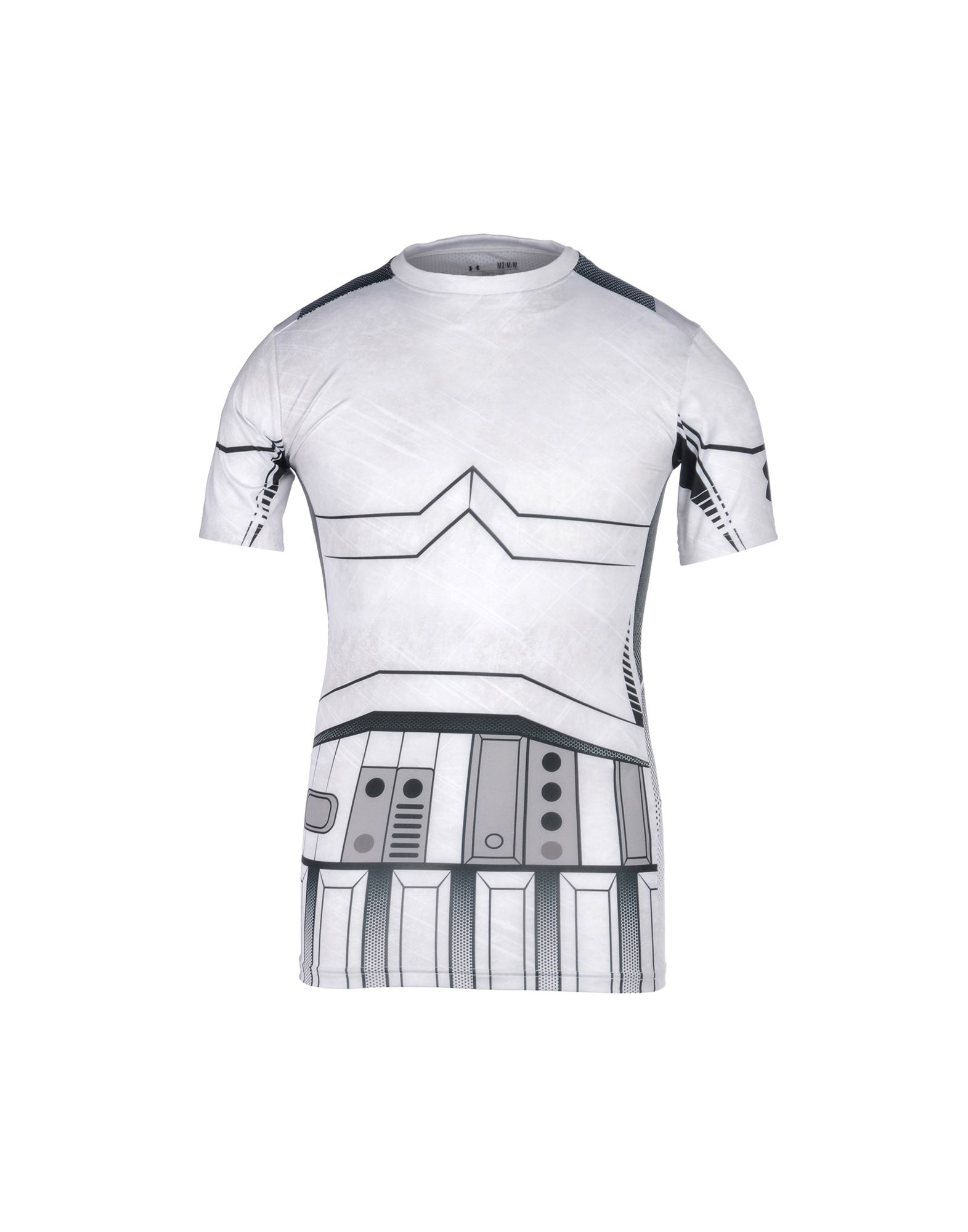 Under armour t shirt in grey for men light grey lyst for Gray under armour shirt