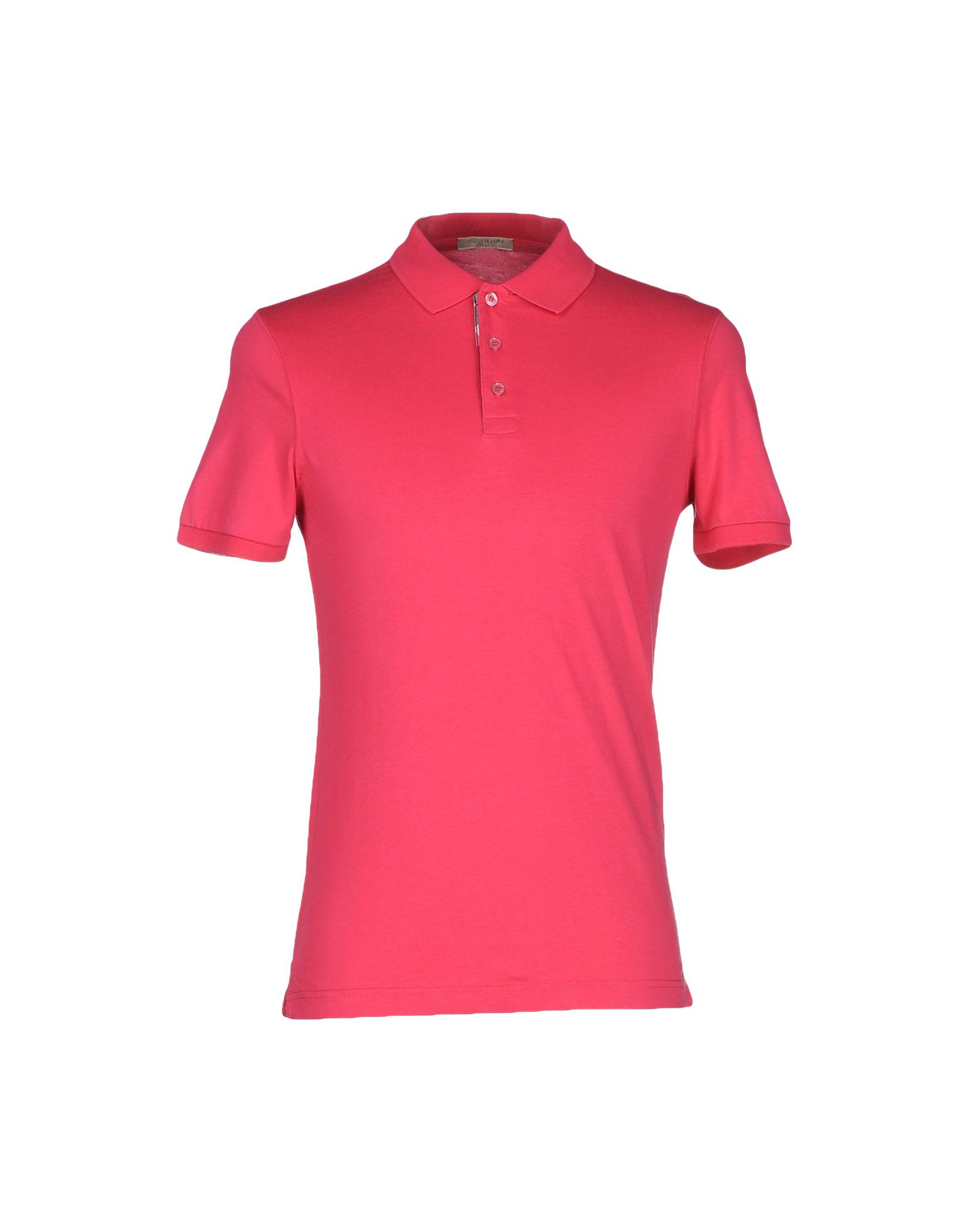 Burberry Brit Polo Shirt In Black For Men Fuchsia Lyst