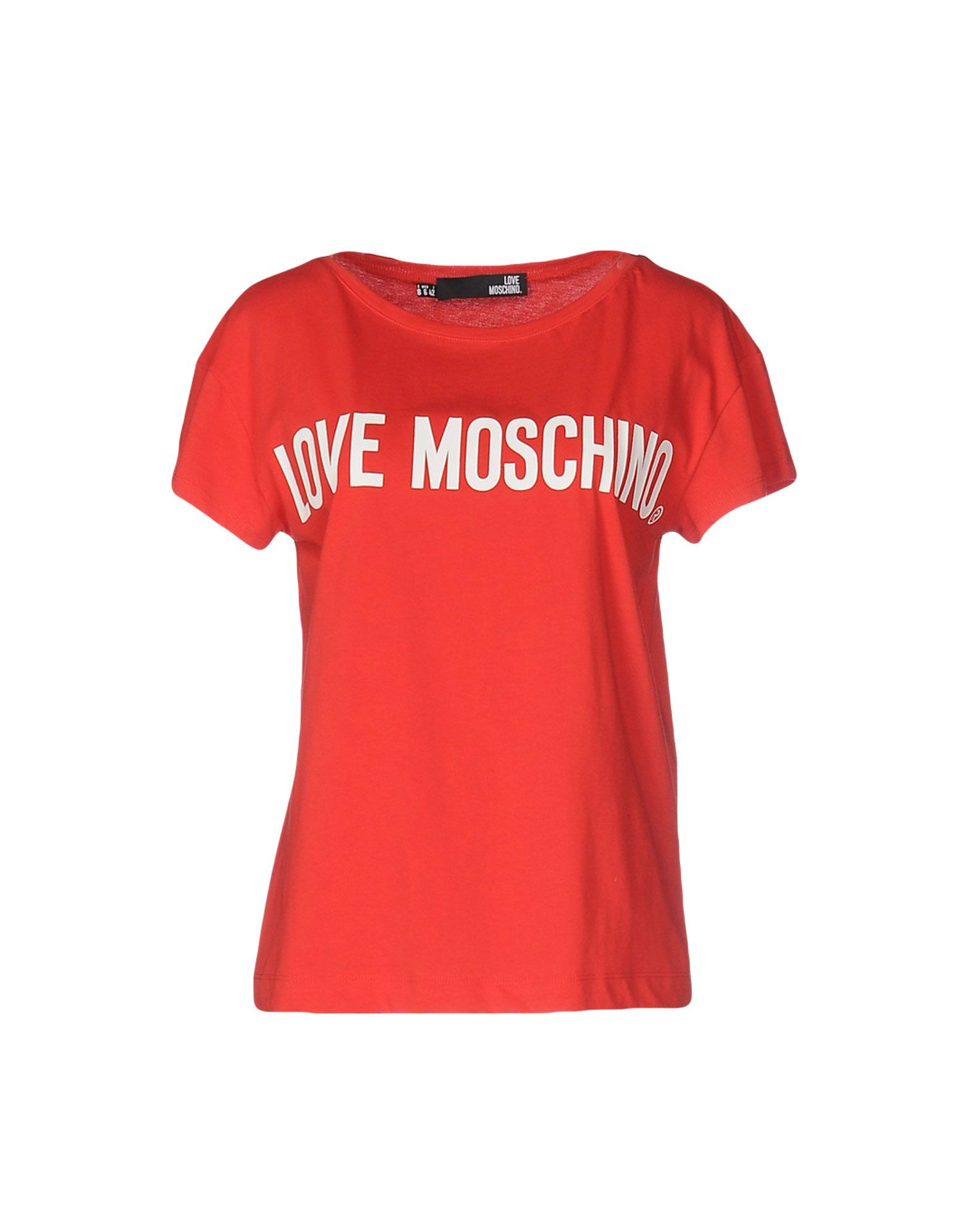 love moschino t shirt in red lyst. Black Bedroom Furniture Sets. Home Design Ideas