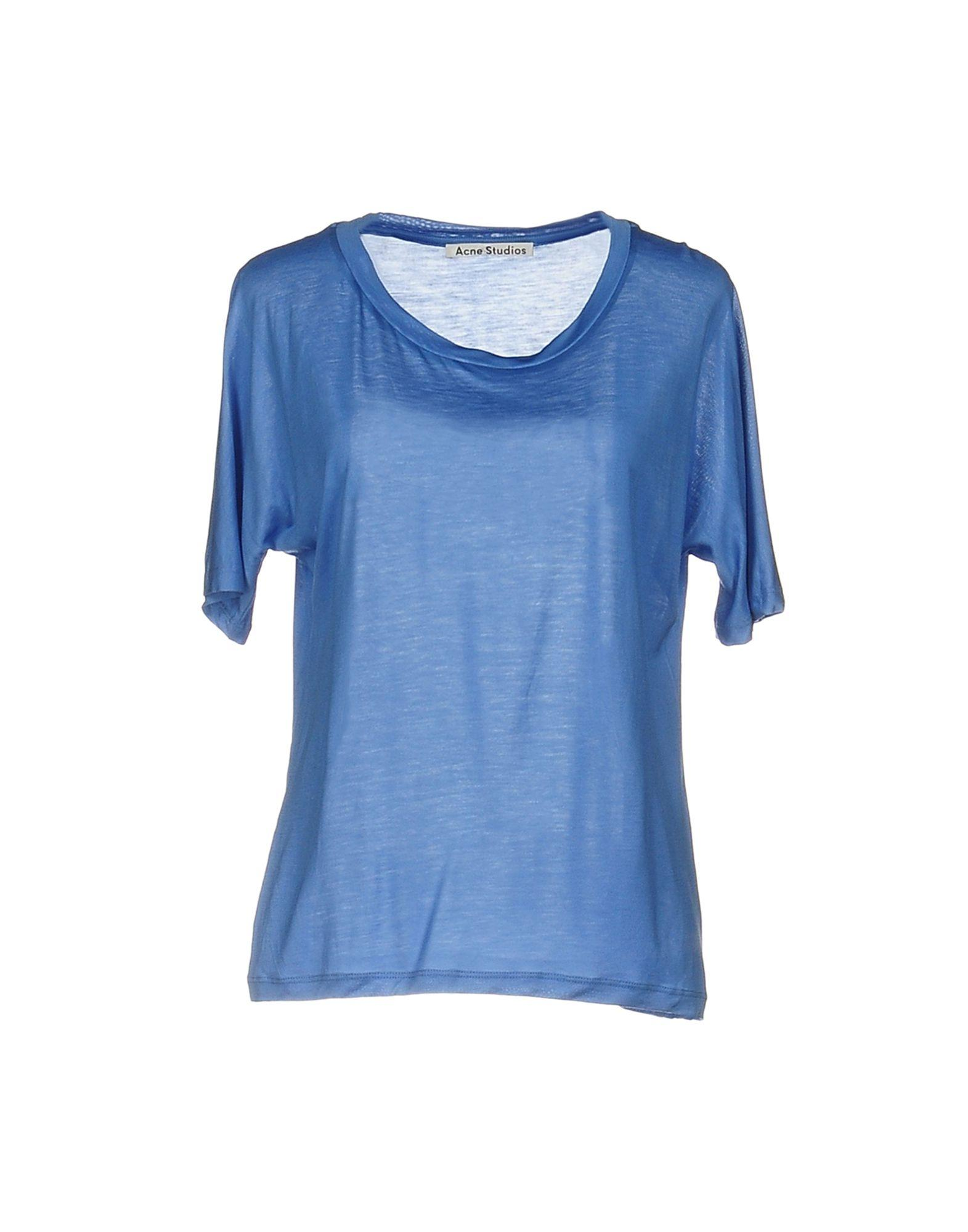 Acne T Shirt In Blue Lyst