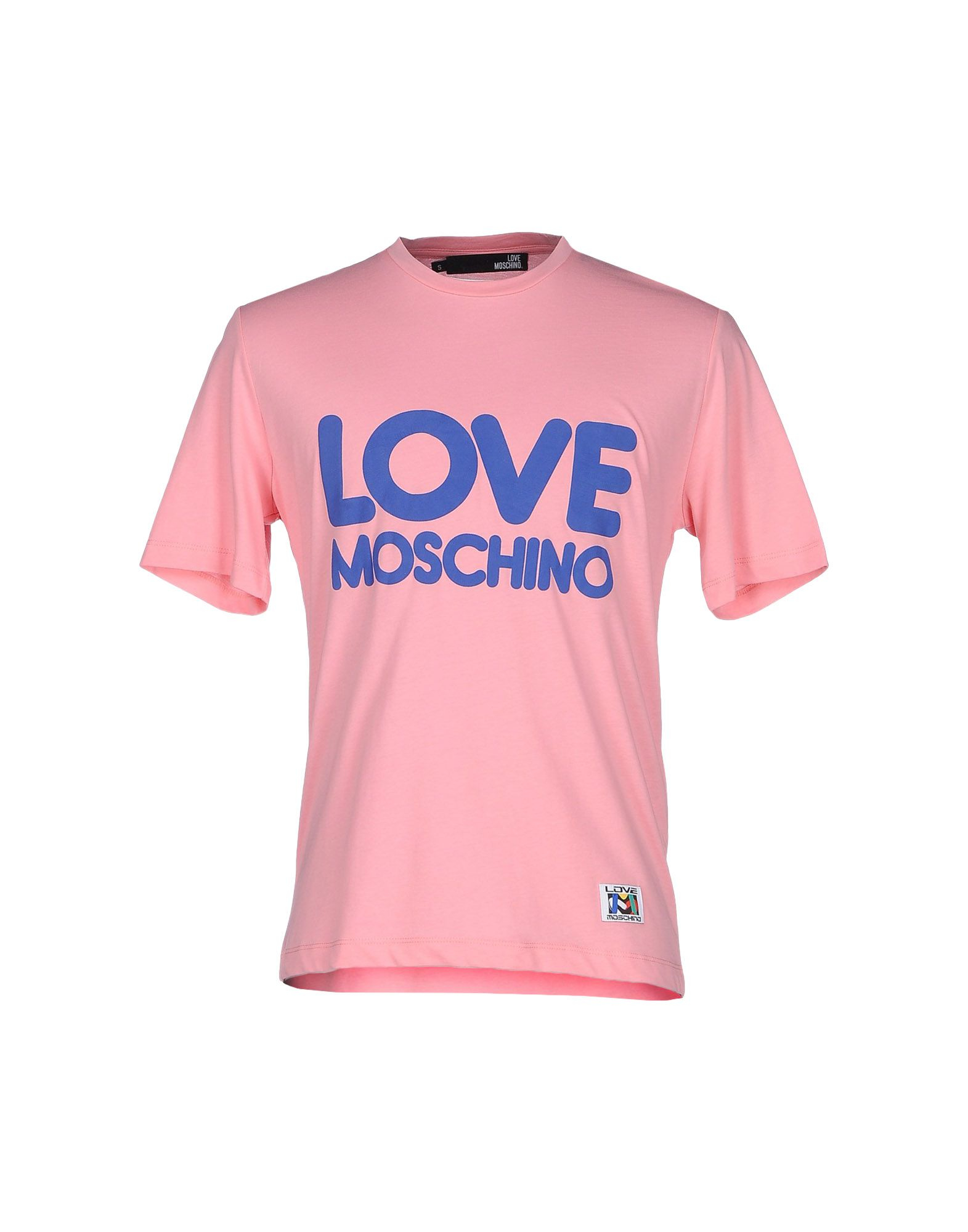 love moschino t shirt in pink for men lyst. Black Bedroom Furniture Sets. Home Design Ideas