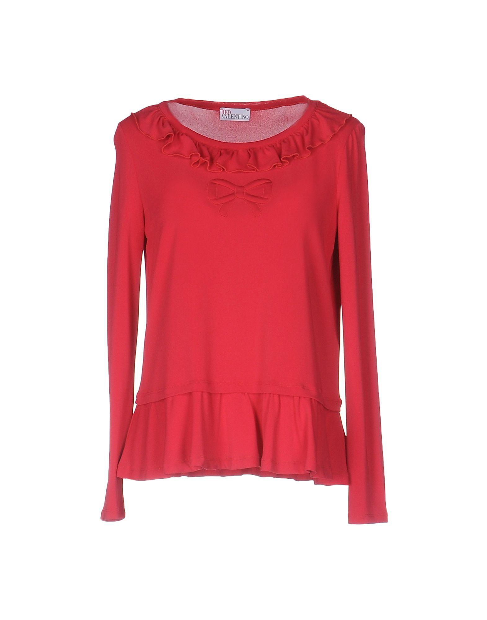 Red valentino t shirt in red lyst for Red valentino t shirt