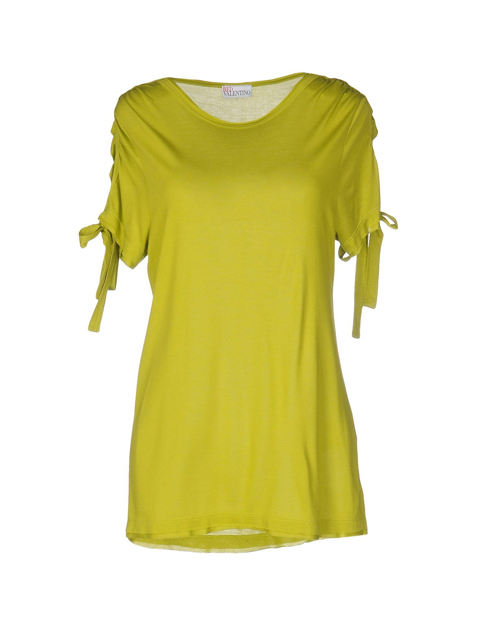 Red valentino t shirt in green save 50 lyst for Red valentino t shirt