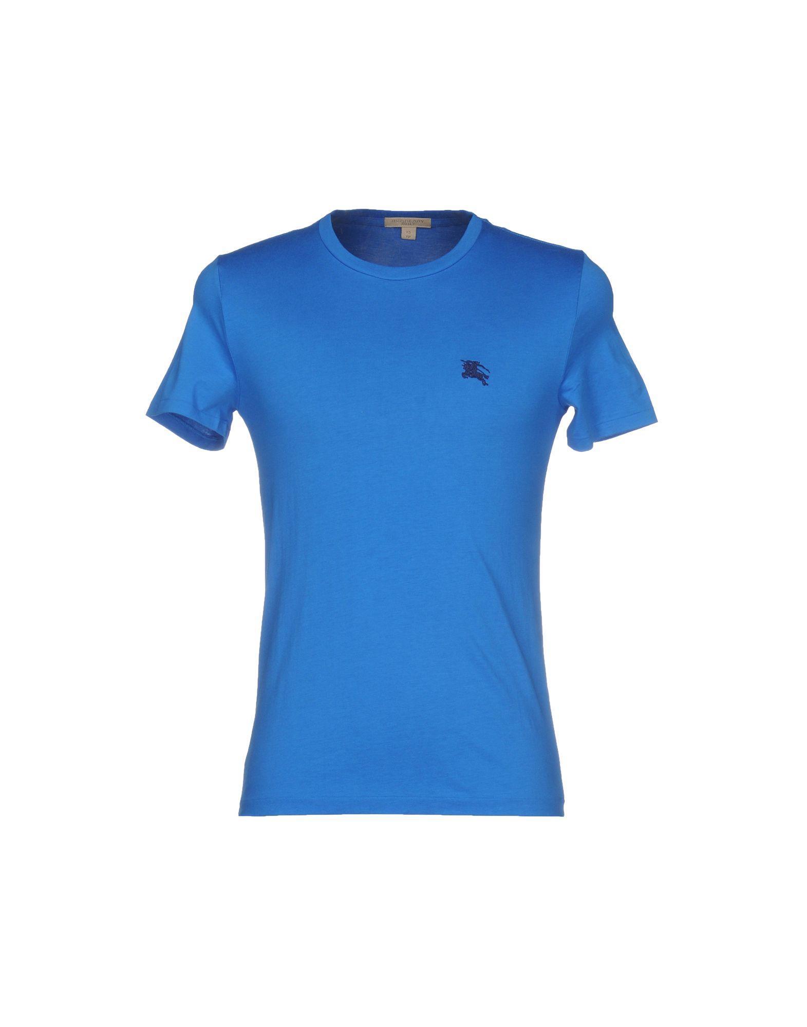 Lyst burberry t shirt in blue for men for T shirt burberry men