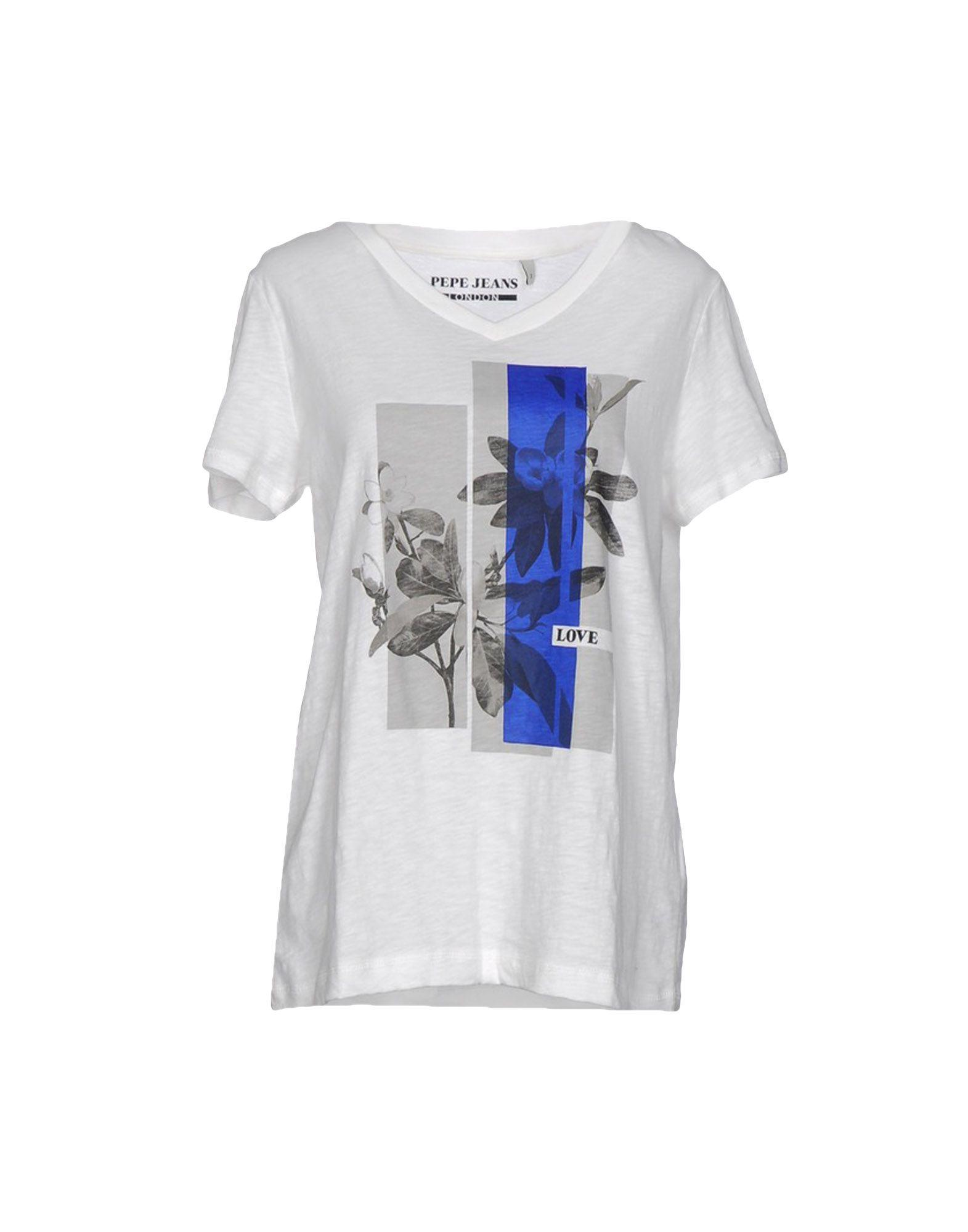pepe jeans t shirt in white lyst. Black Bedroom Furniture Sets. Home Design Ideas