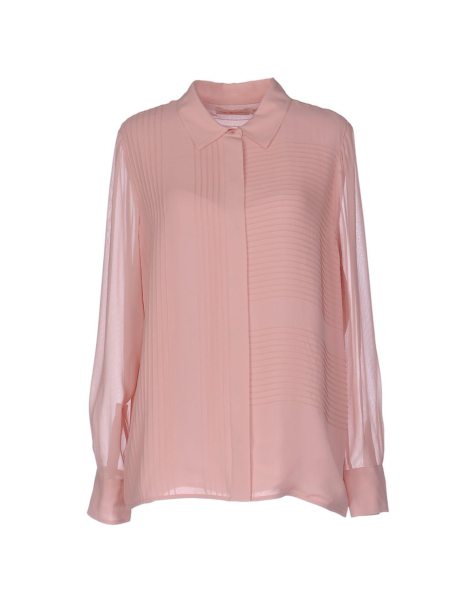 Tory Burch Shirt In Pink Lyst