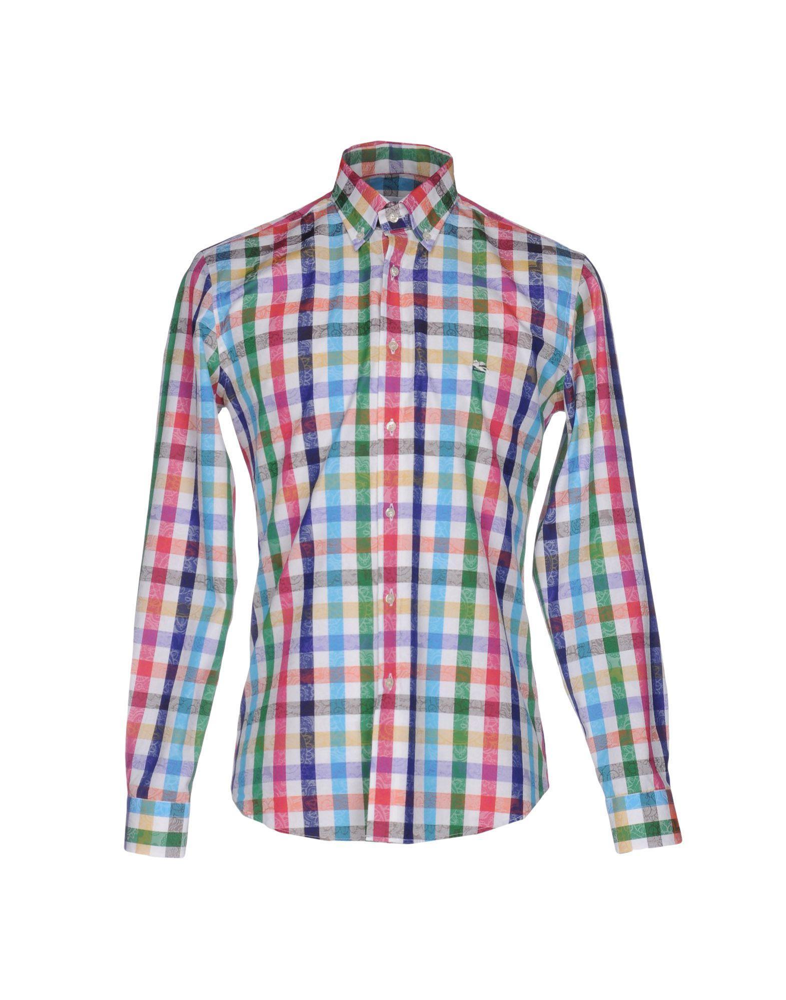 Lyst etro shirt in white for men for Etro men s shirts