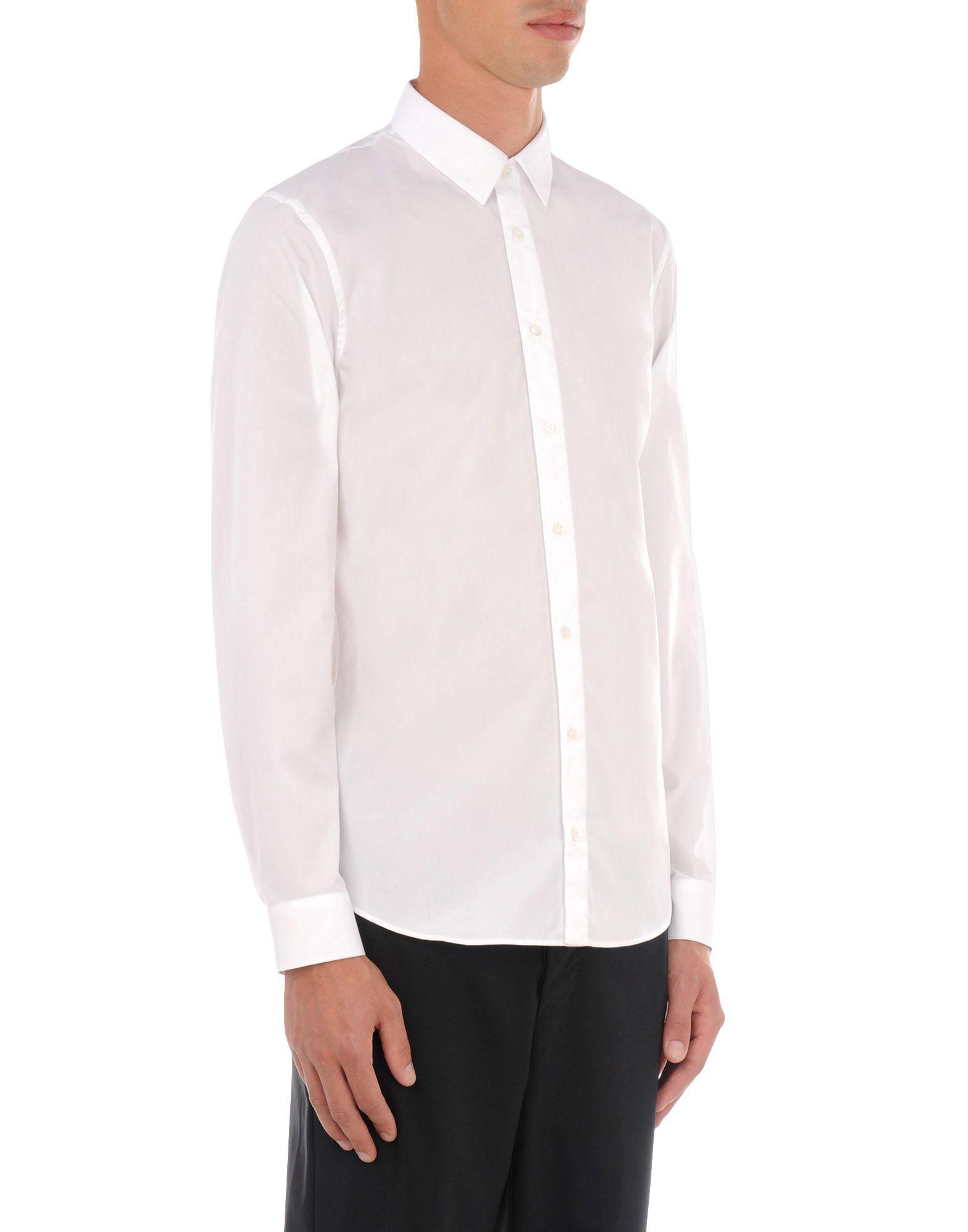 Jil sander shirt in white for men lyst for Jil sander mens shirt