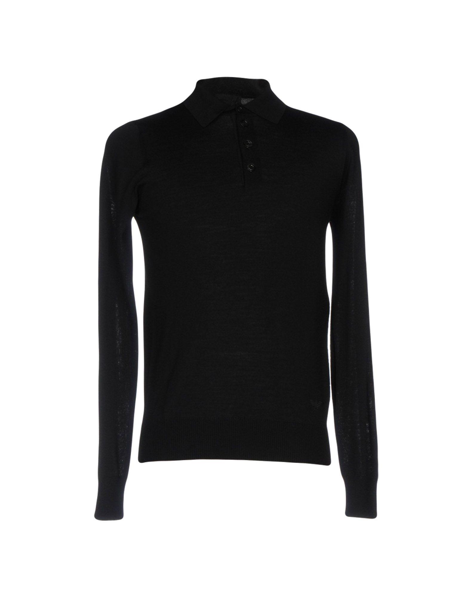 lyst emporio armani sweater in black for men. Black Bedroom Furniture Sets. Home Design Ideas