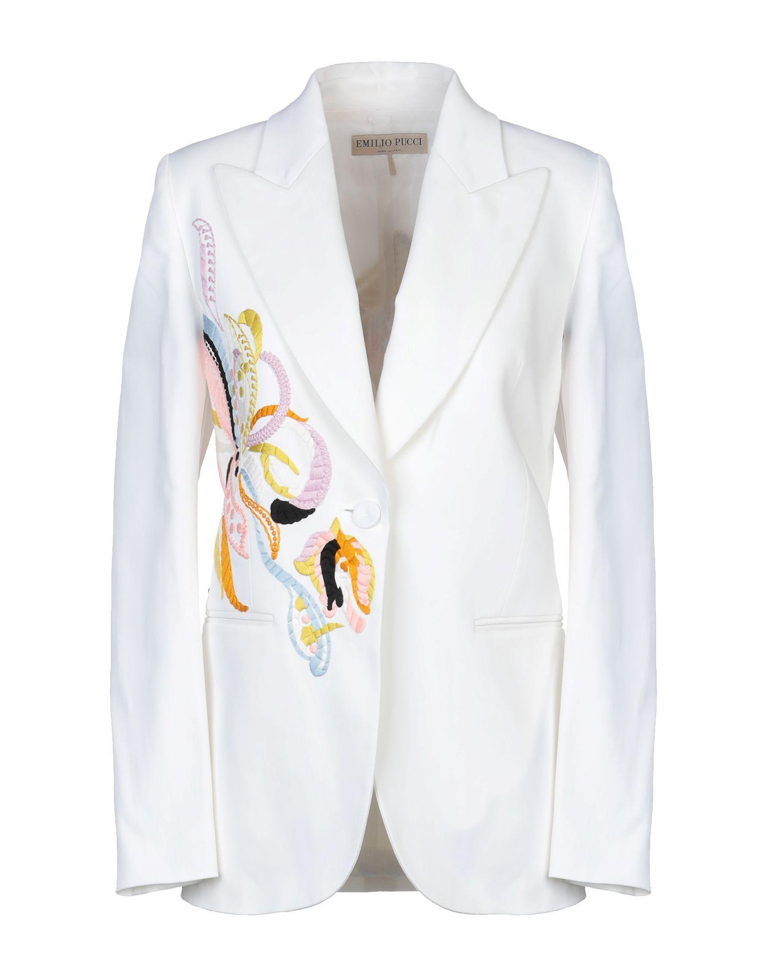 49863d7b8f8d Emilio Pucci - White Blazer - Lyst. View fullscreen