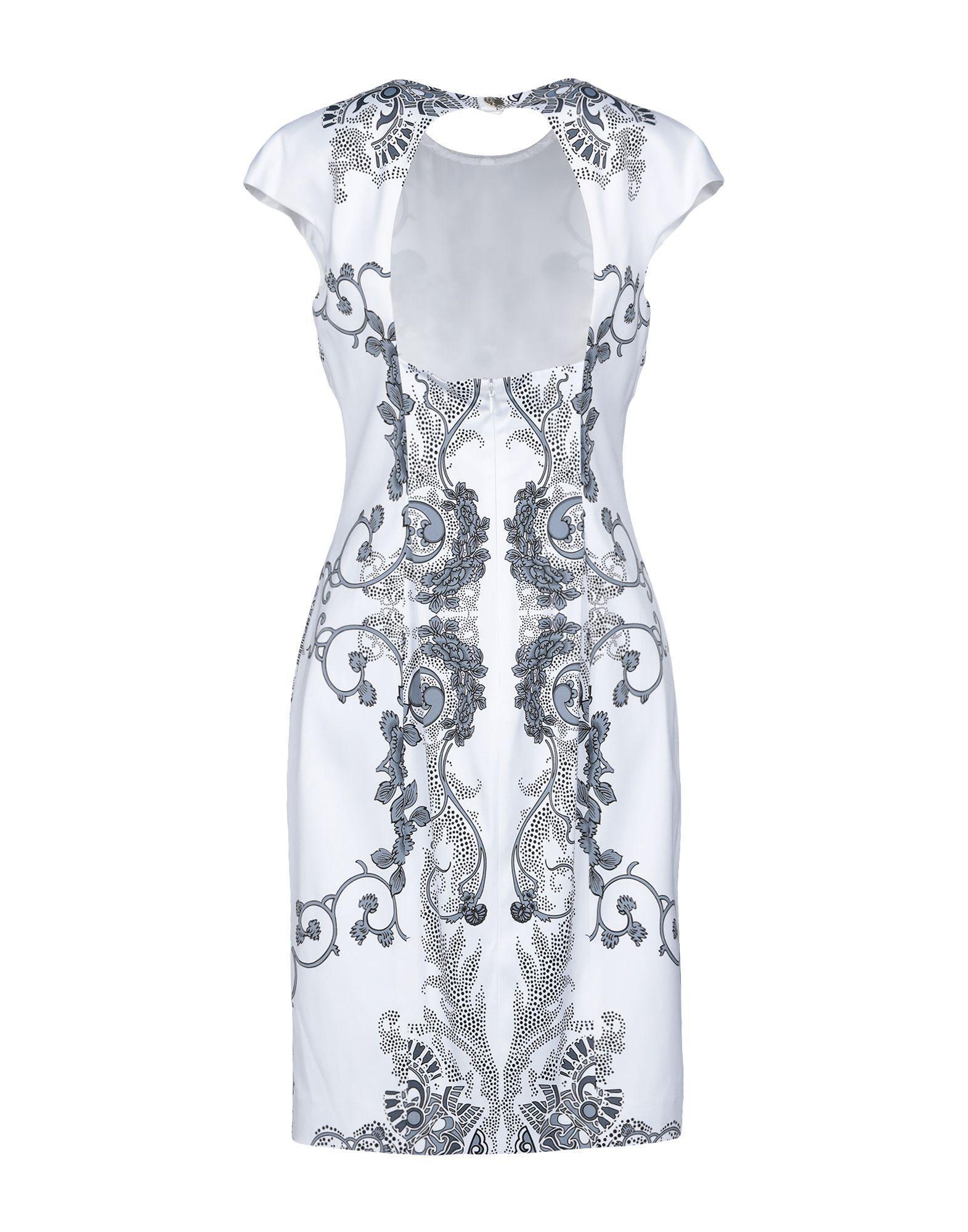 d61f9e076e8 Versace Knee-length Dress in White - Lyst