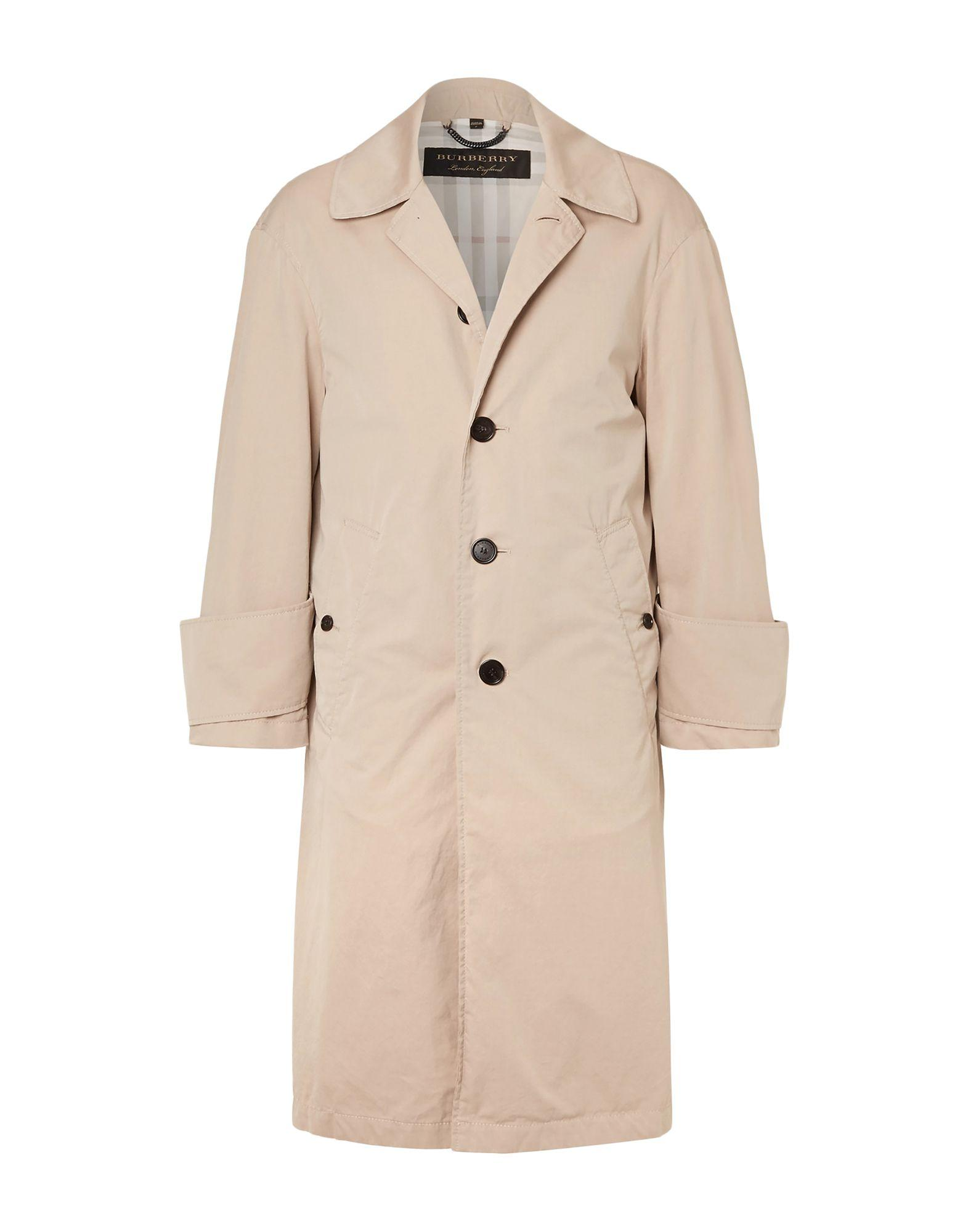 049325ad35ef Lyst - Burberry Coat in Natural for Men
