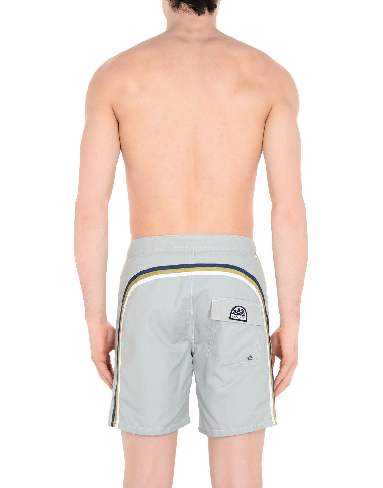61630724ab0a2 Lyst - Sundek Swimming Trunks in Gray for Men
