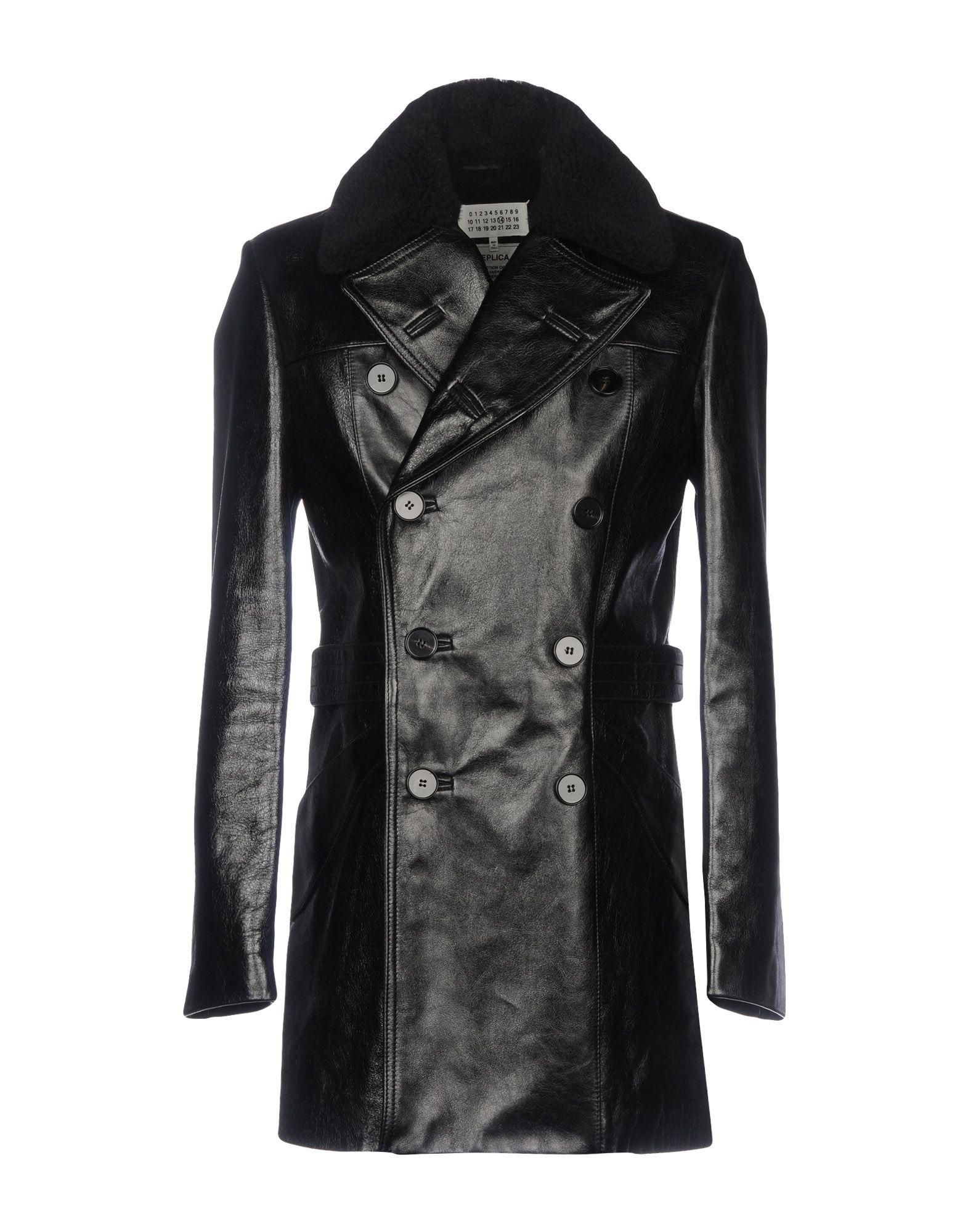 97cbeb247b77 Maison Margiela Coat in Black for Men - Lyst
