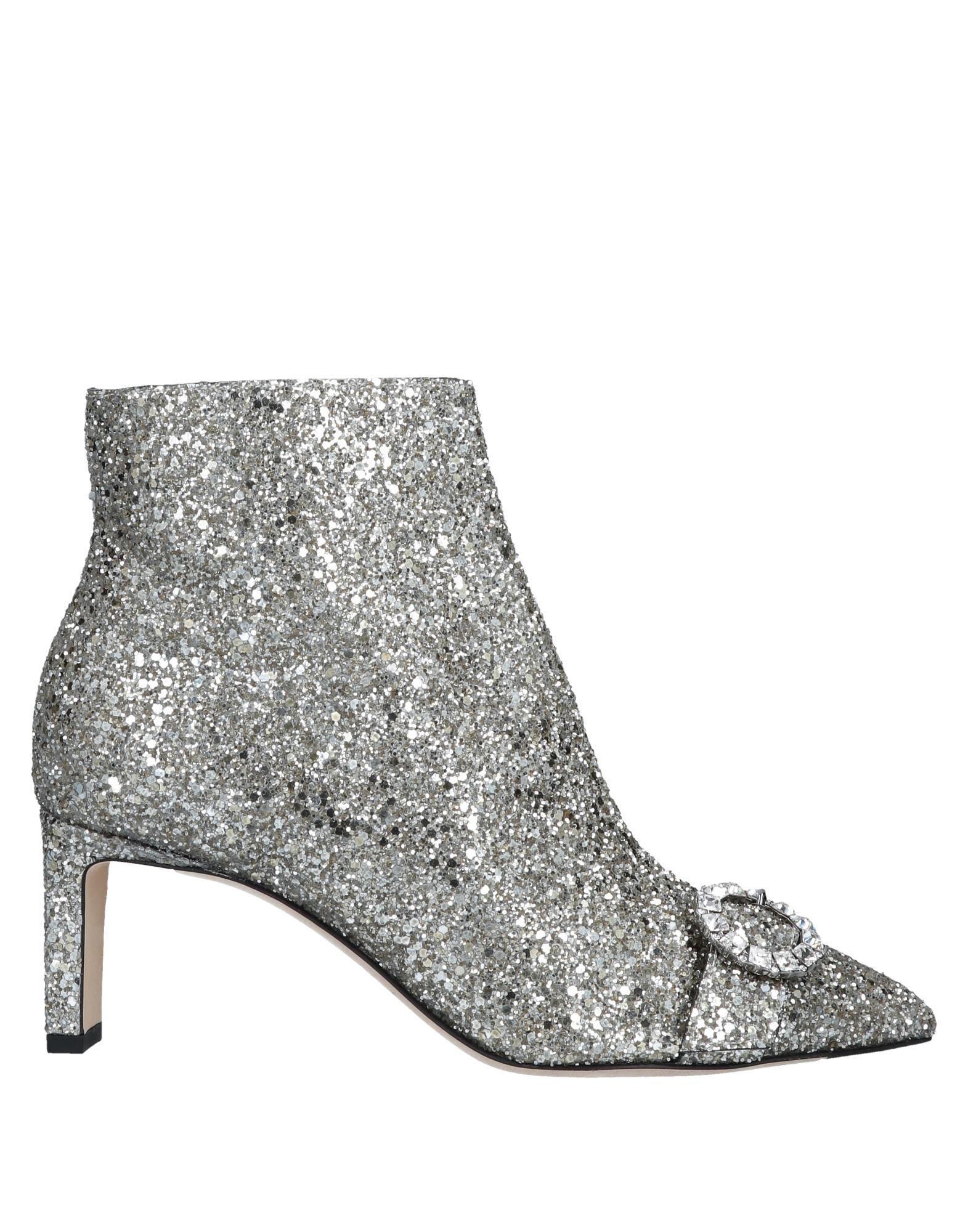 ace8ffbcd5b Lyst - Jimmy Choo Boots Hanover 65 Fabric Glitter Silver Buckle in ...