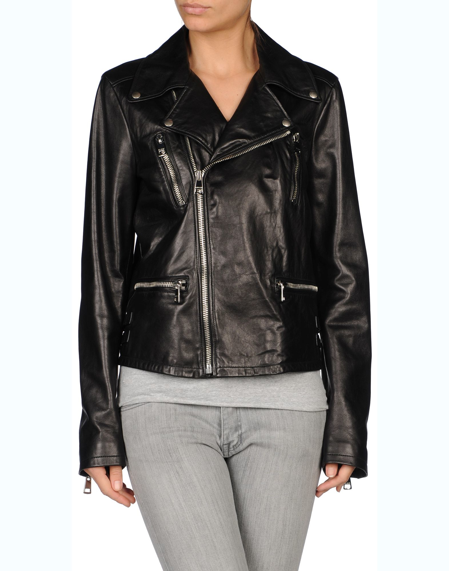 Gucci Leather Jacket in Black   Lyst