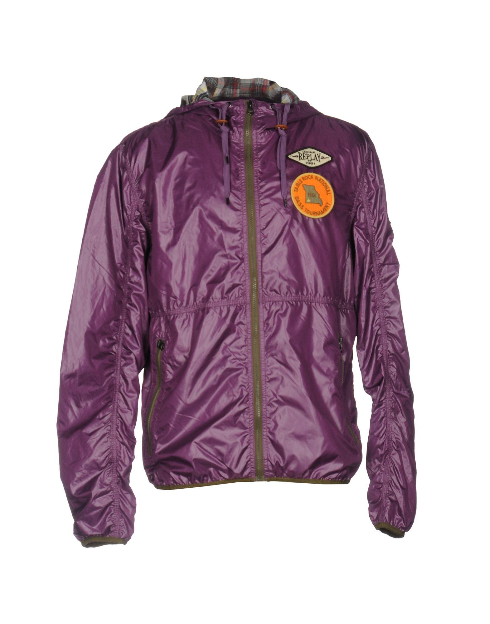 replay jacket in purple for men lyst