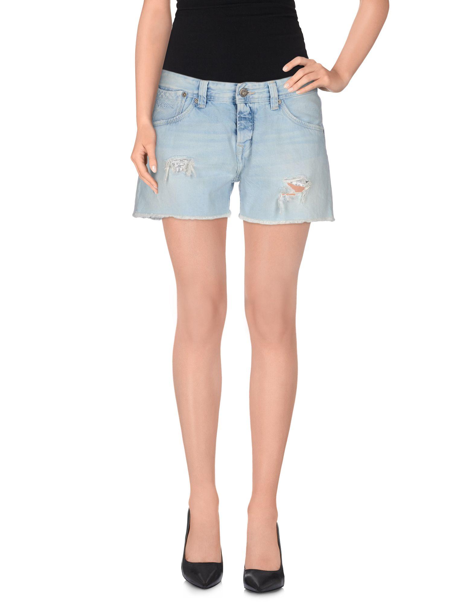 pepe jeans denim shorts in blue lyst. Black Bedroom Furniture Sets. Home Design Ideas