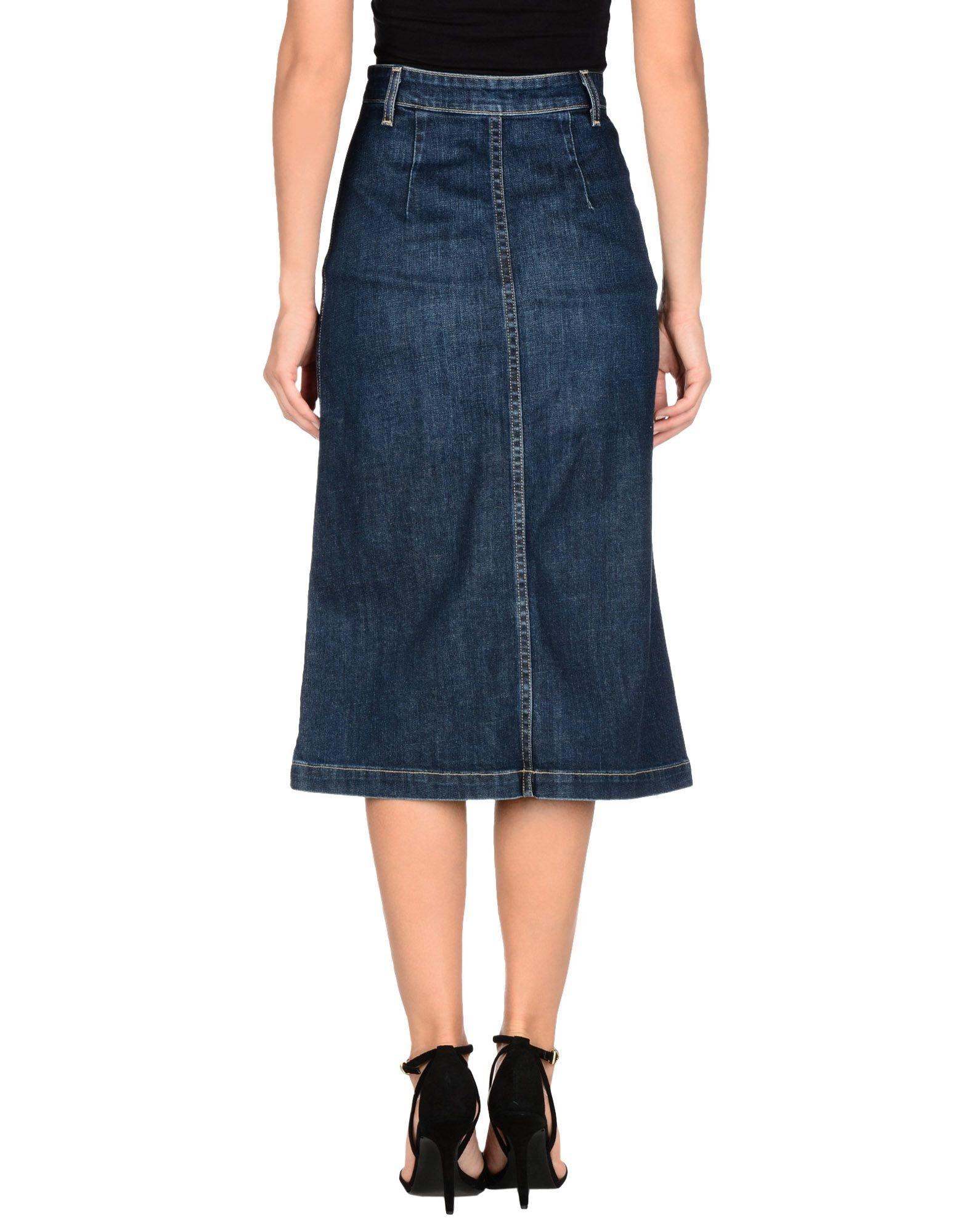 ag denim skirt in blue lyst