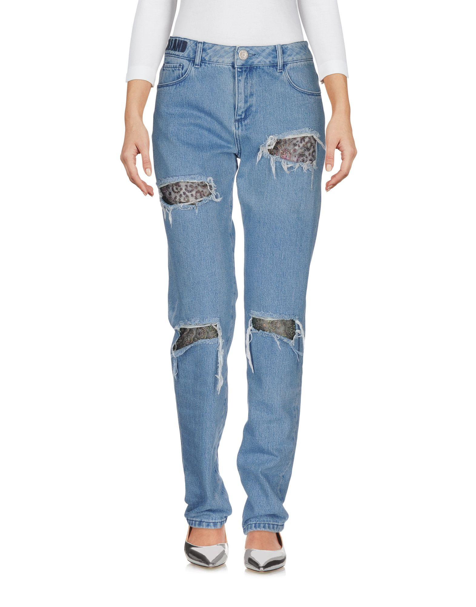 House Of Holland Denim Trousers In Blue Lyst