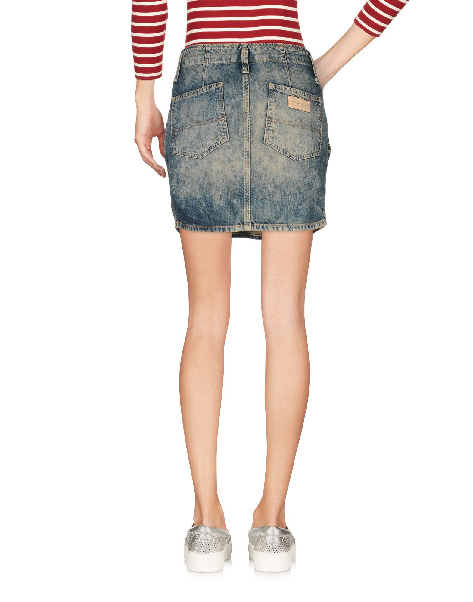 Denim & supply ralph lauren Denim Skirt in Blue | Lyst