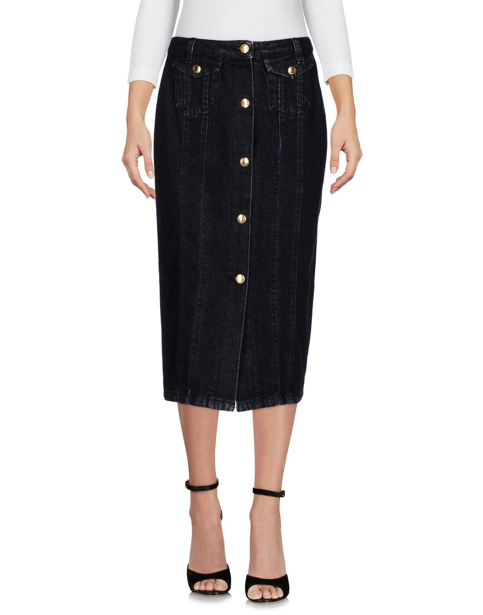 acne denim skirt in black lyst