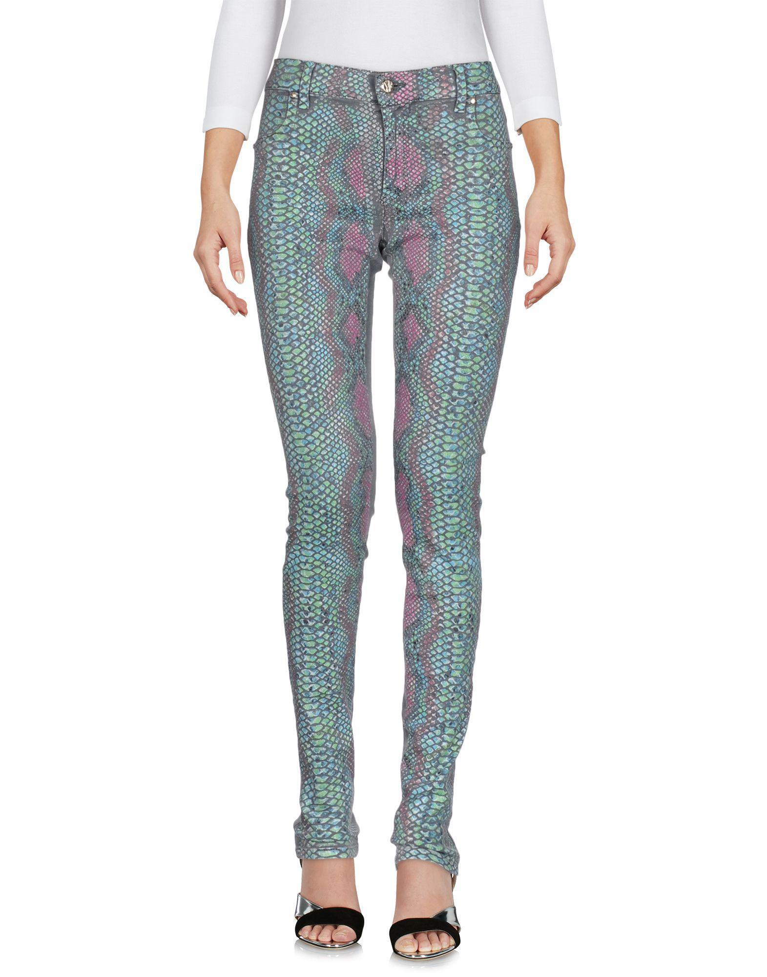 Lyst - Pantalon en jean Versace Jeans en coloris Gris 3fdb4f4faa40