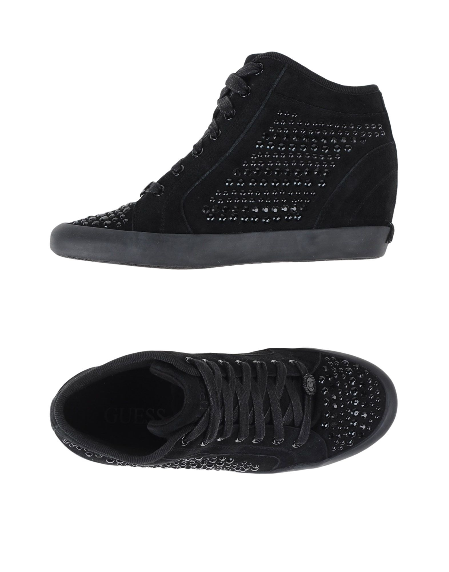 guess hightops amp trainers in black lyst