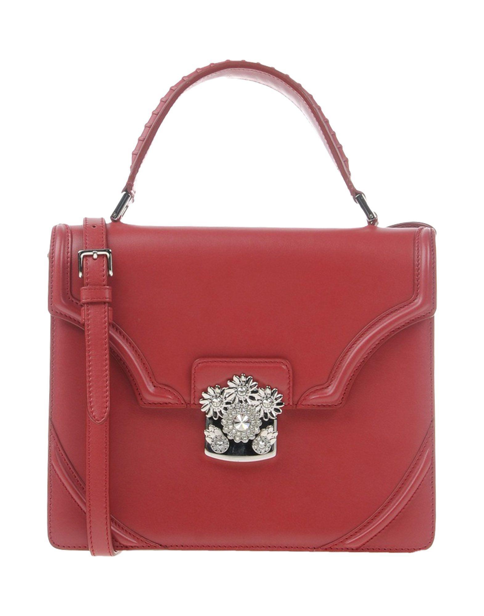 Alexander McQueen Handbag in Red - Lyst