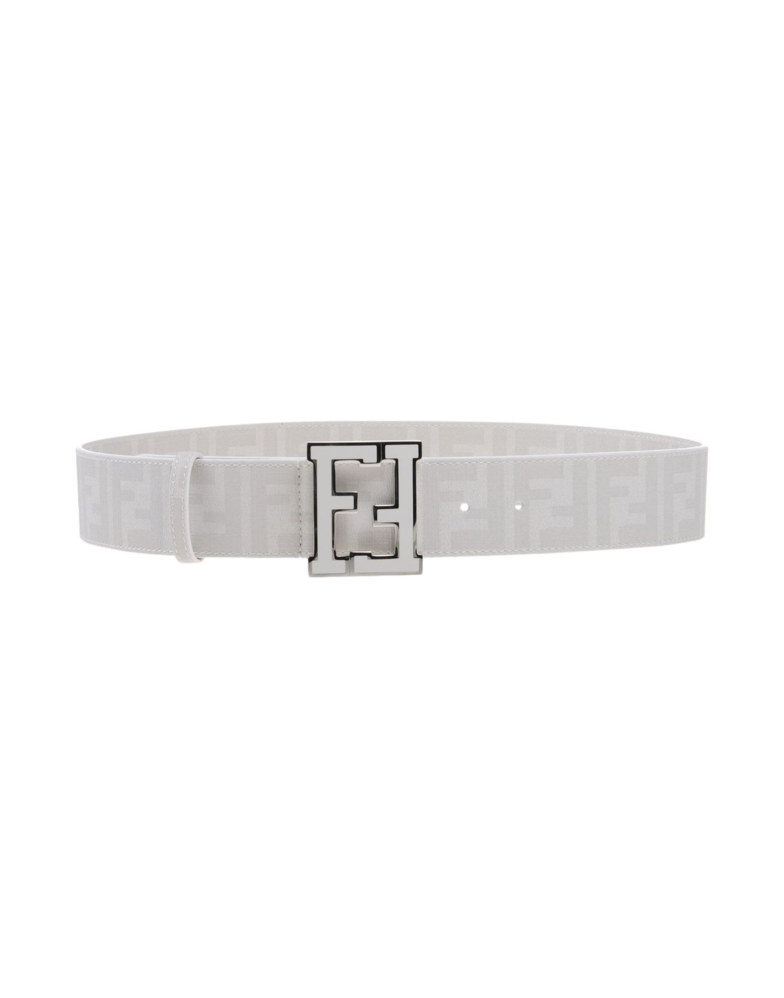 c5060d548ca0 ... coupon lyst fendi logo faux leather belt in white for men 45455 d4a7e