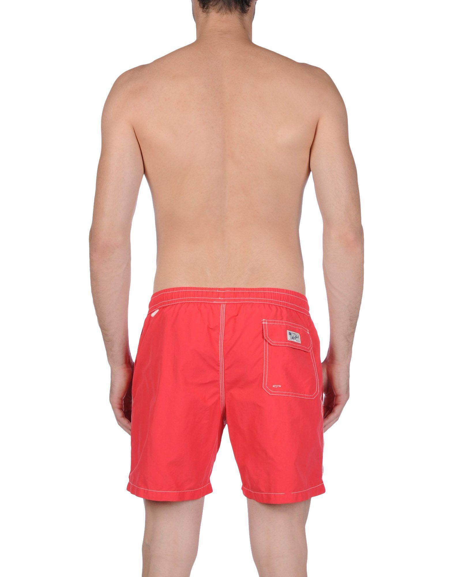 60e04ea7d4 Lyst - Hartford Swim Trunks in Red for Men