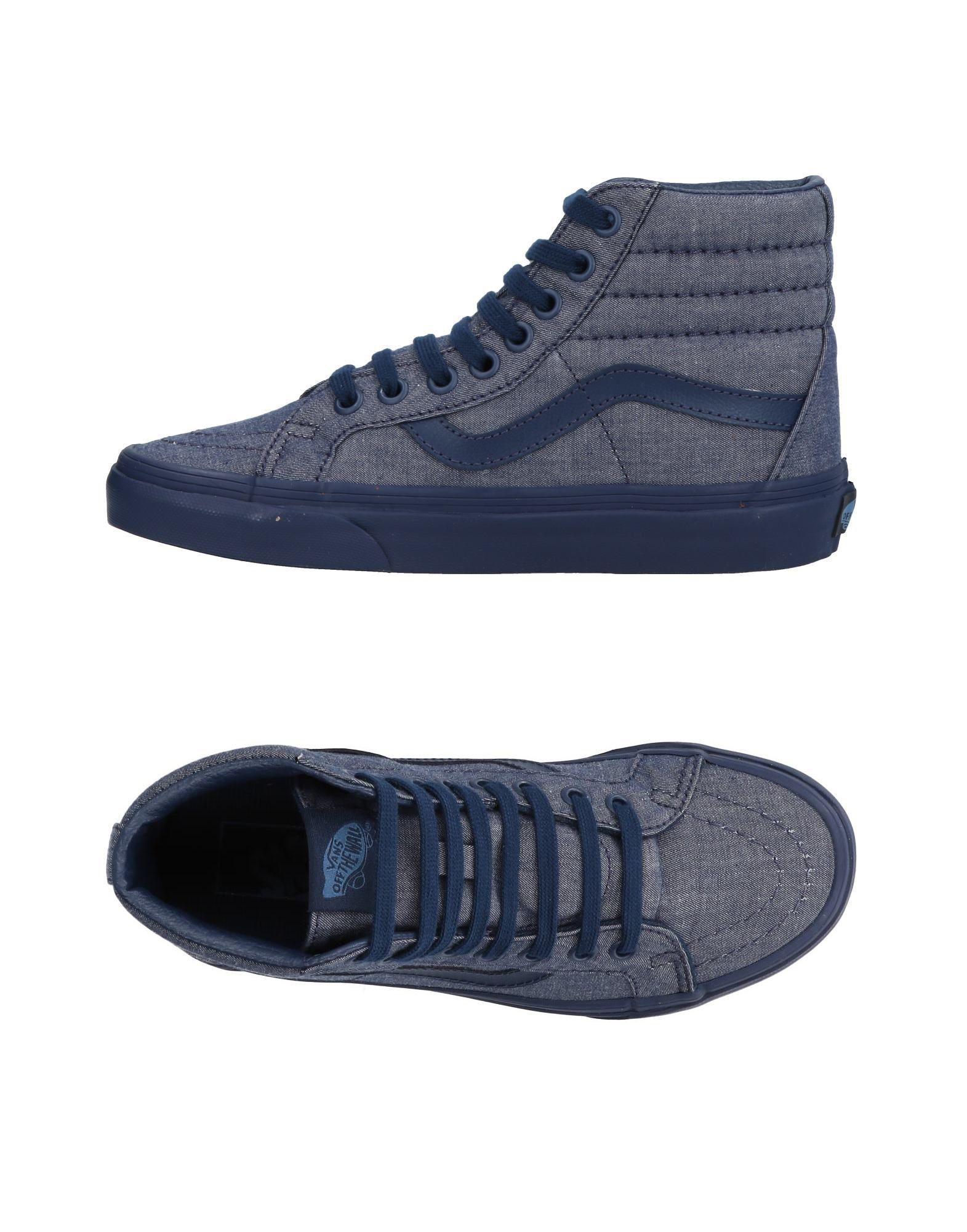 vans blue high tops