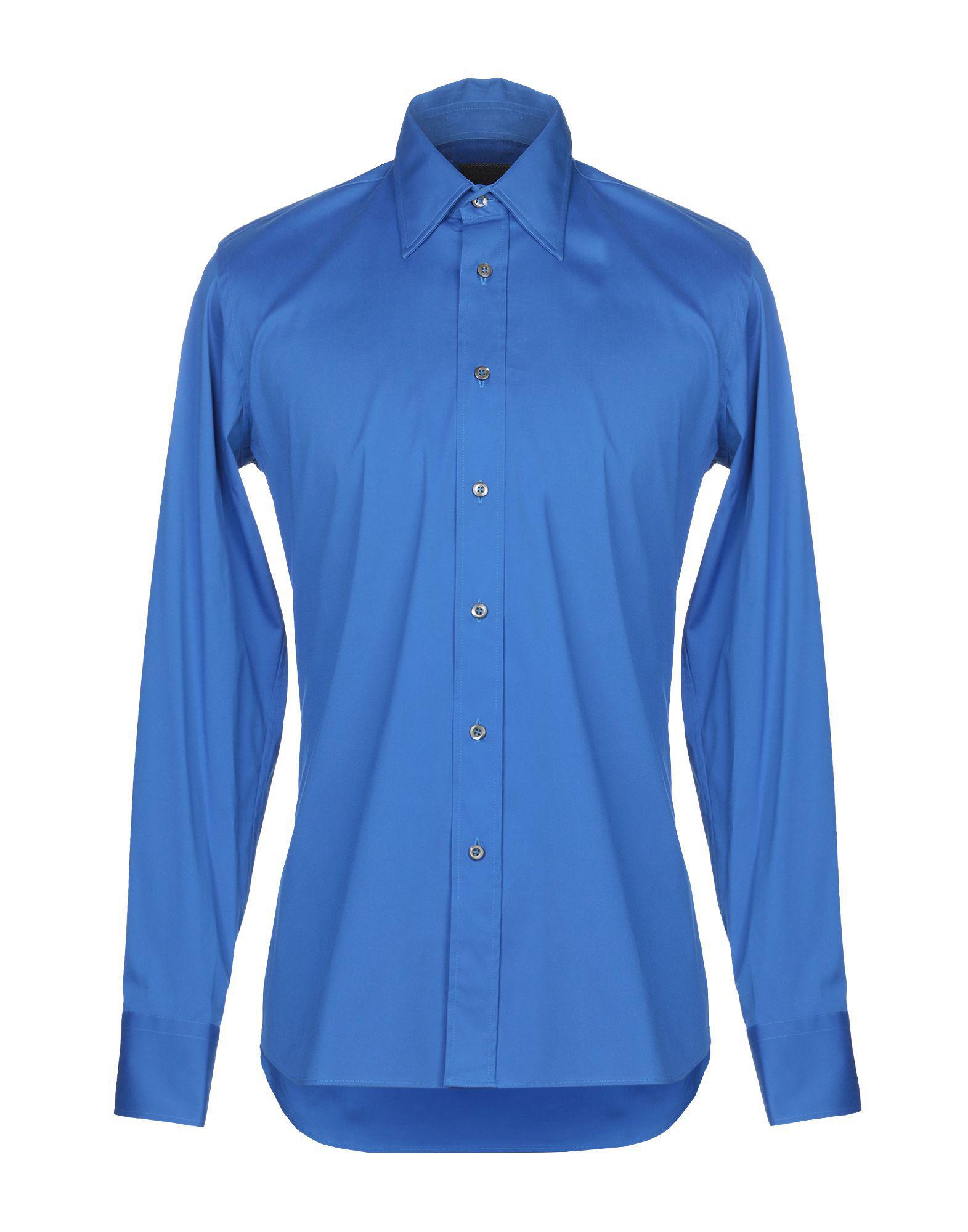 Lyst - Chemise Prada pour homme en coloris Bleu b1f3a8319e8
