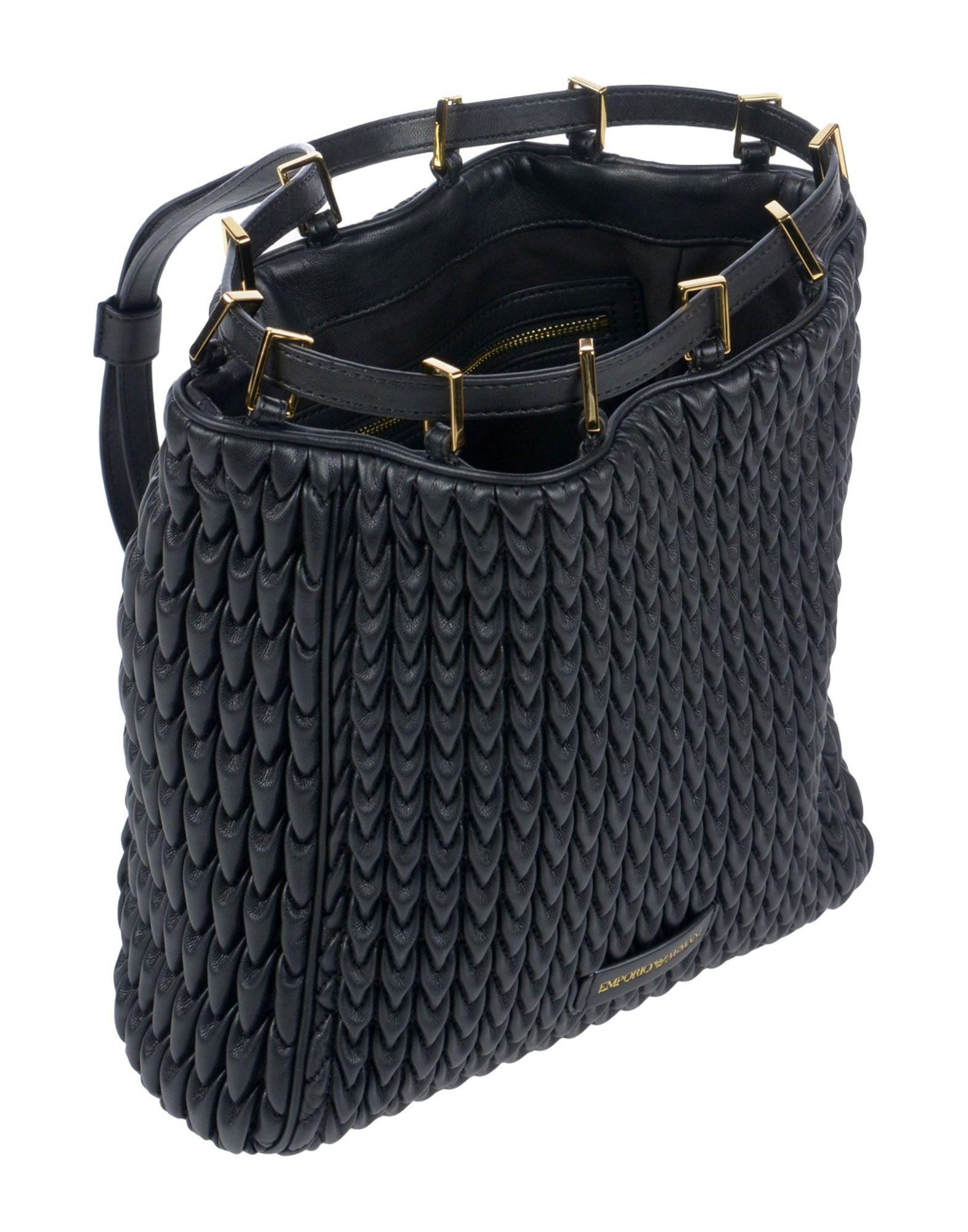 Emporio Armani Backpacks   Bum Bags in Black - Lyst 8a3149dcf26c3