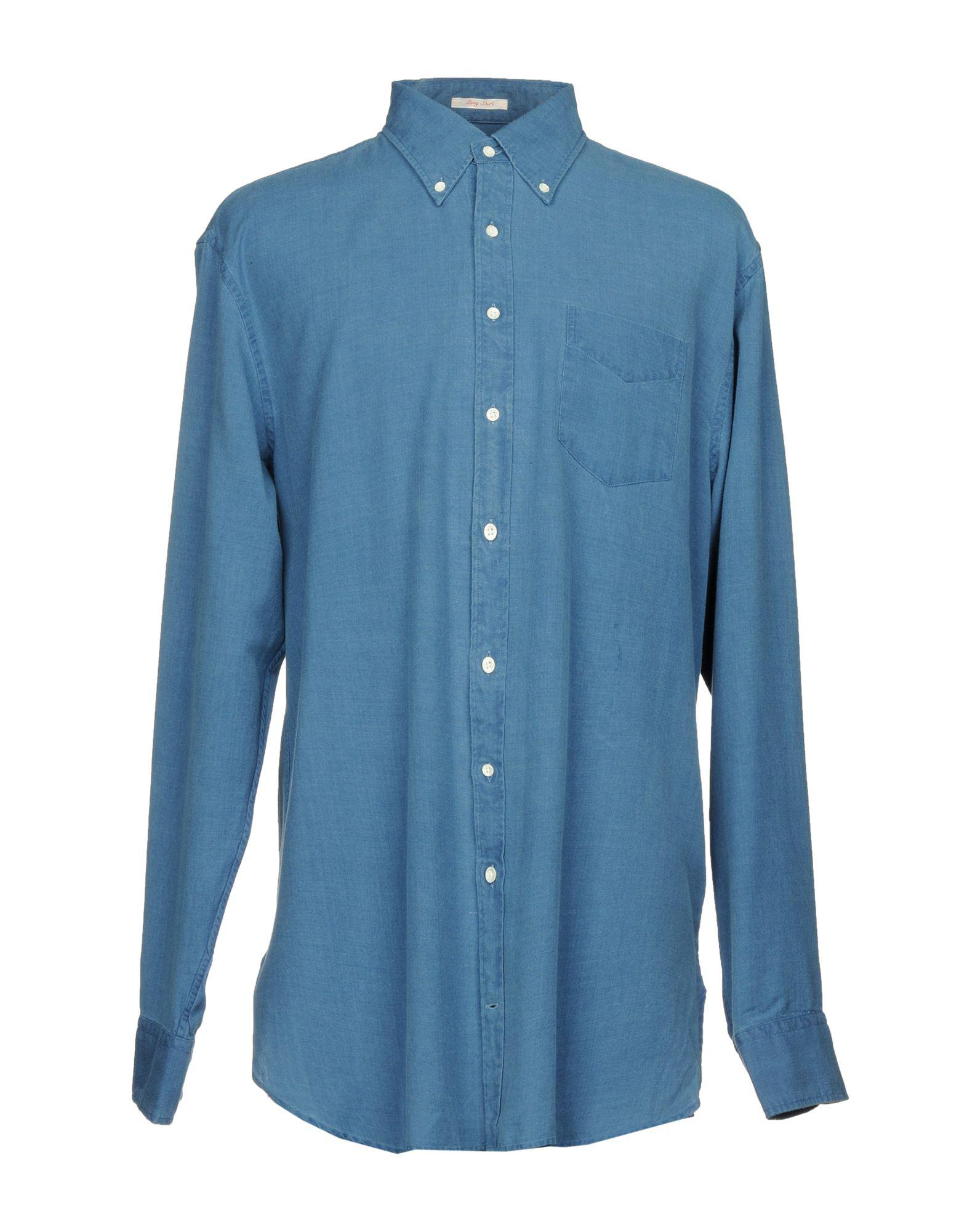 33d6e475154 Lyst - Gant Rugger Shirt in Blue for Men