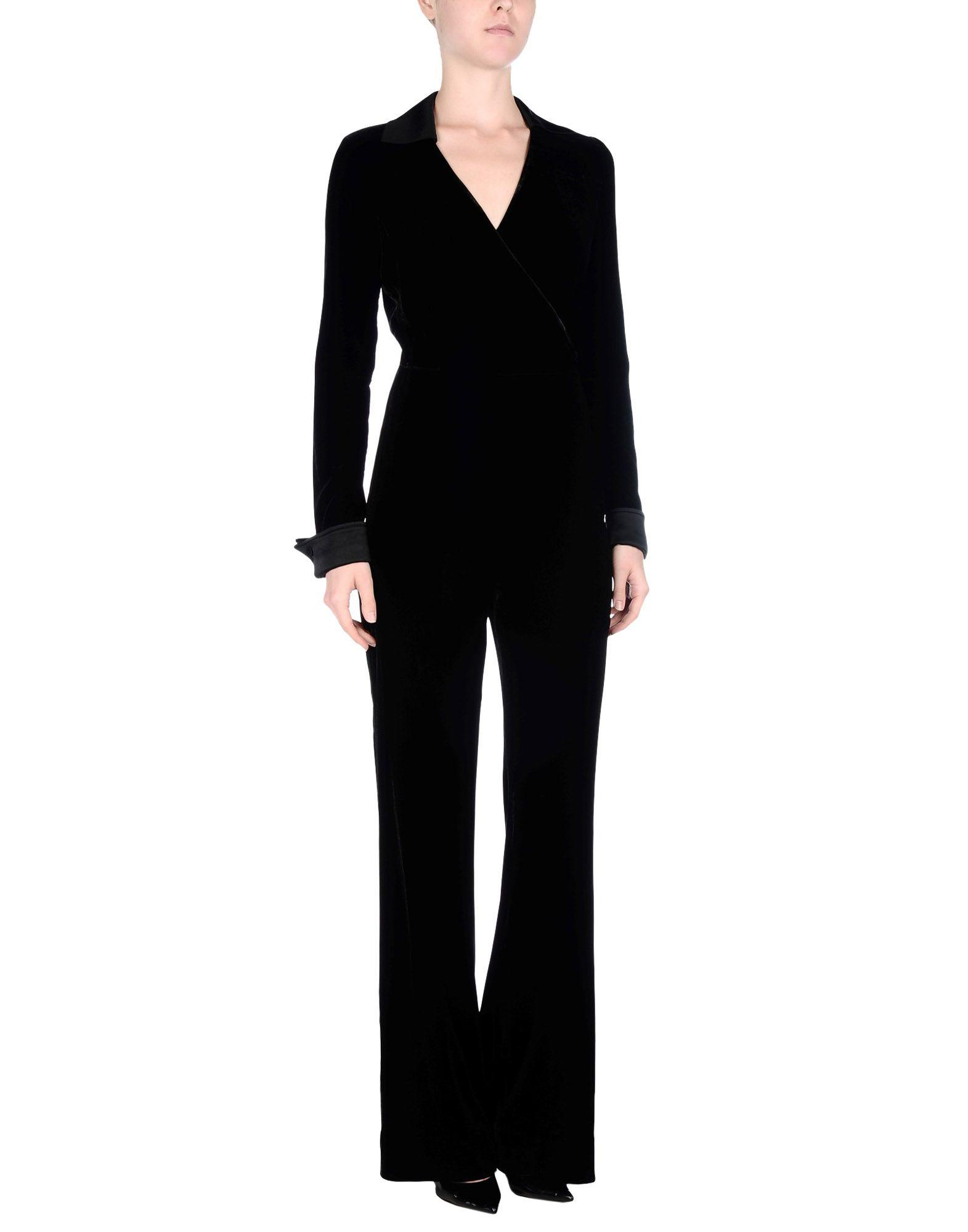 diane von furstenberg jumpsuit in black lyst. Black Bedroom Furniture Sets. Home Design Ideas