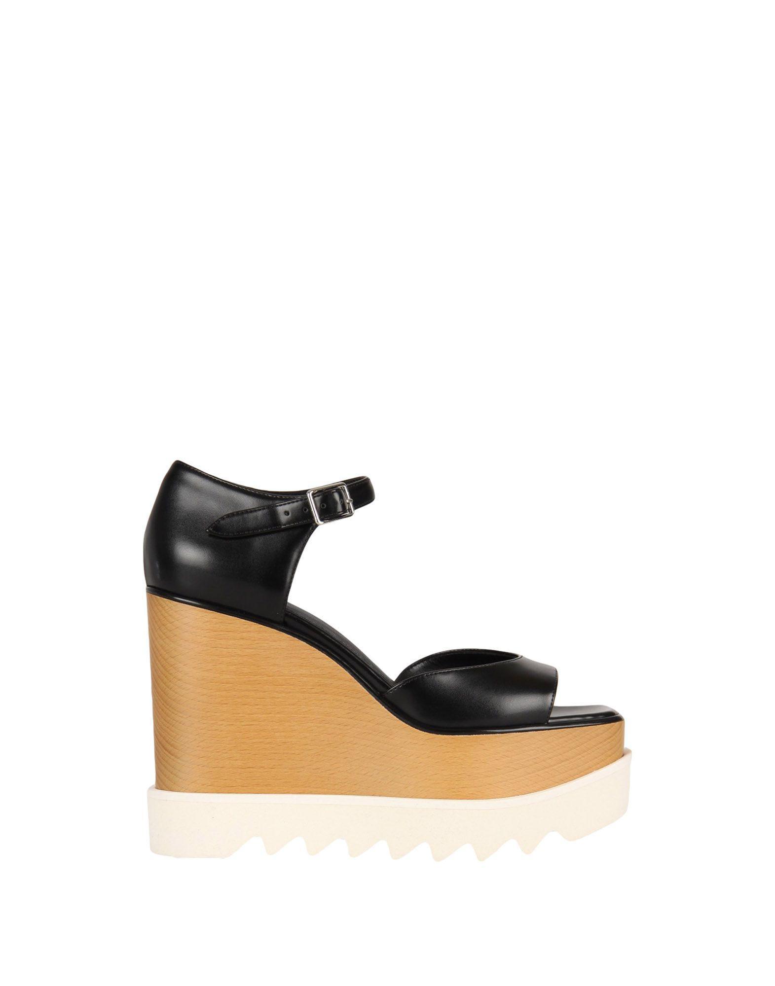 6f90a50ca77 Lyst - Stella McCartney Elyse Sandals in Black - Save 10.828025477707001%
