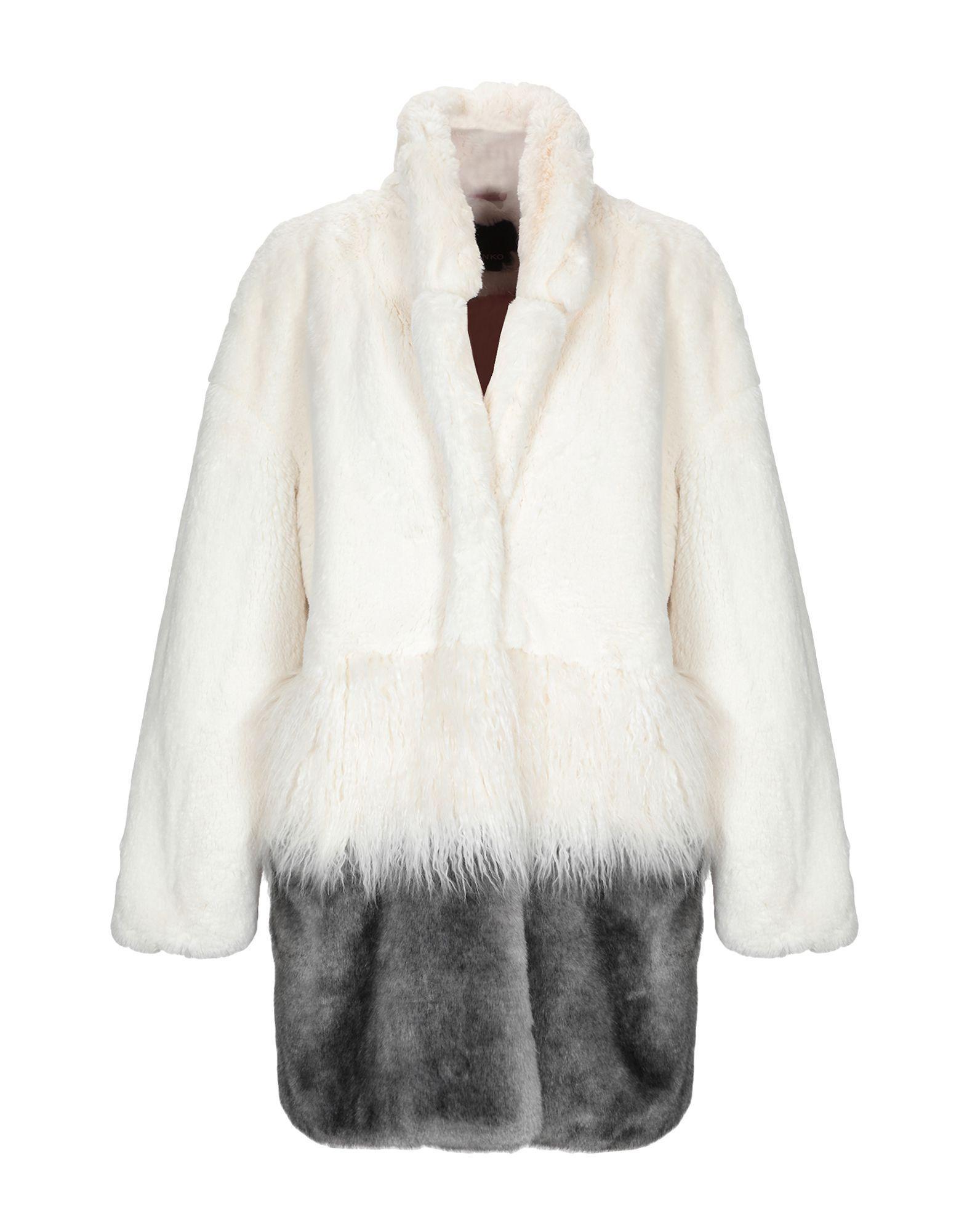 6fb7a3bdf3 Pinko Faux Fur in White - Lyst