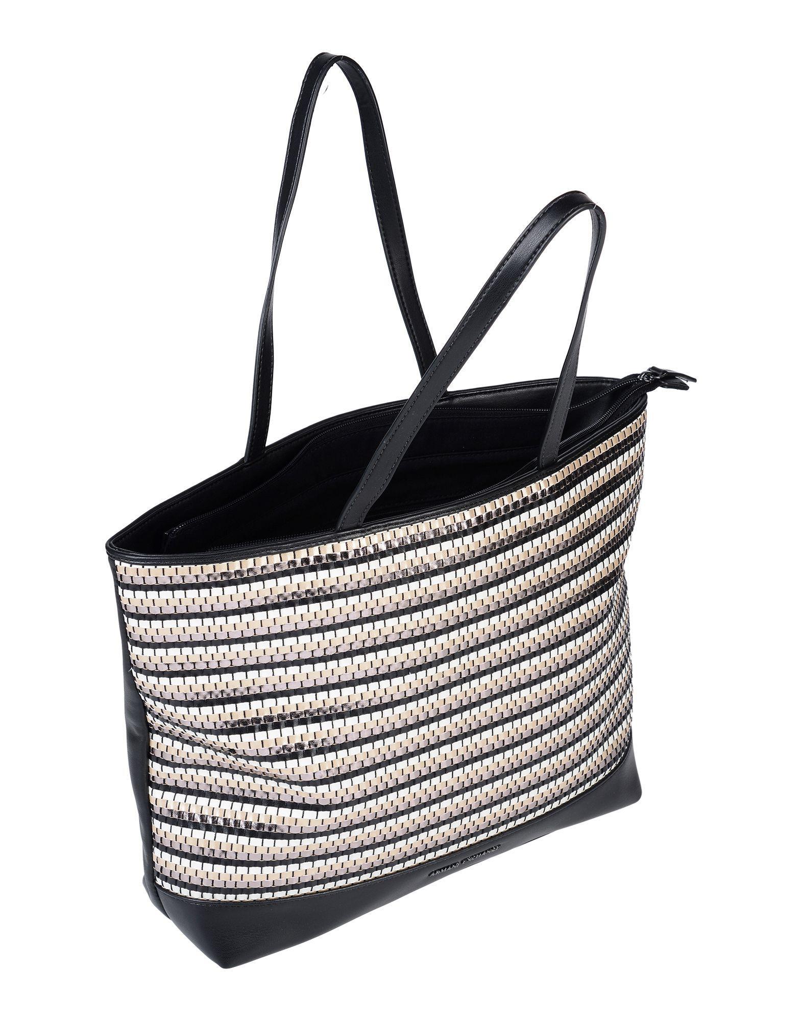 de0884dca8e Armani Exchange Handbag in Black - Lyst