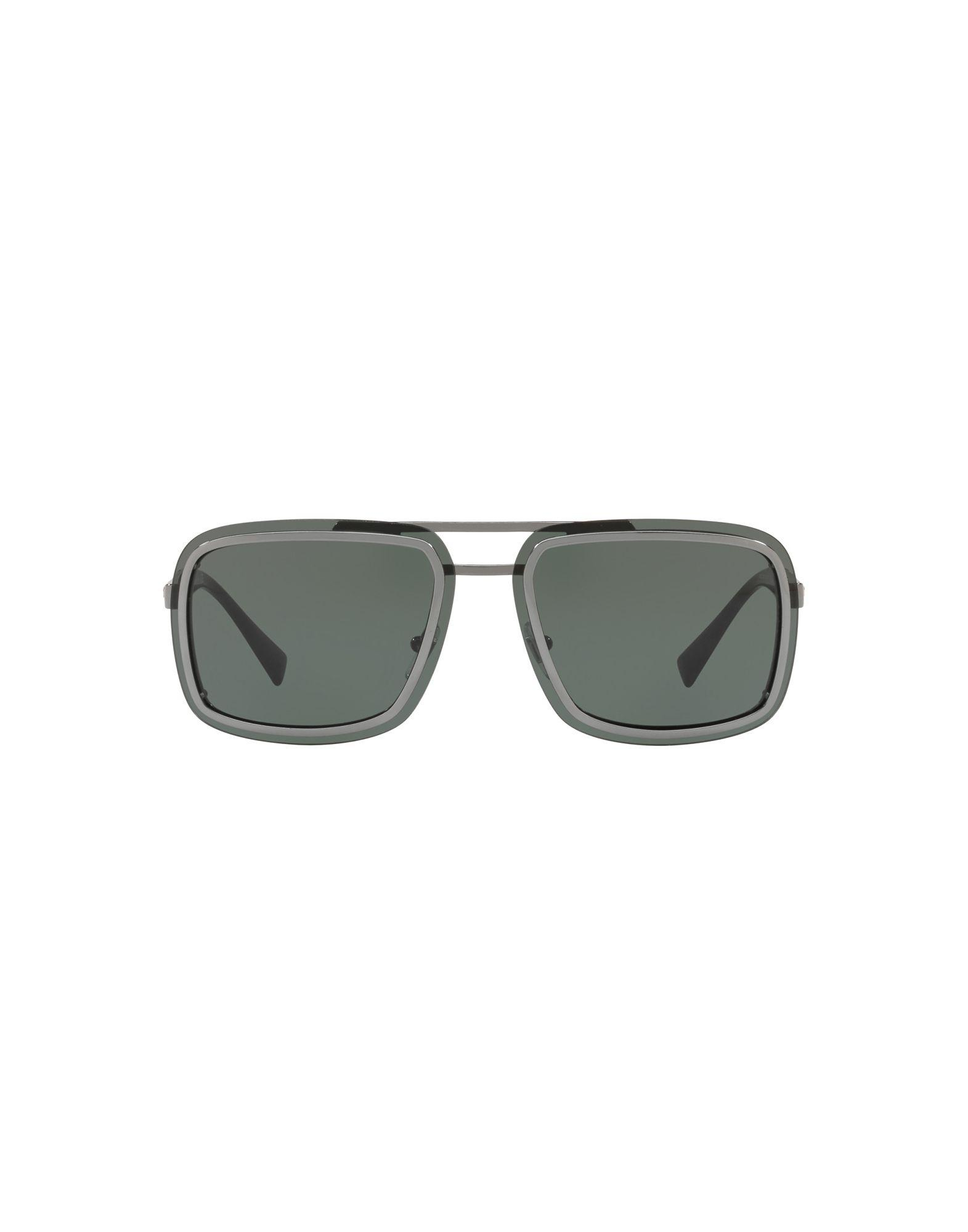 856180adfbc5 Versace Sunglasses in Metallic for Men - Lyst