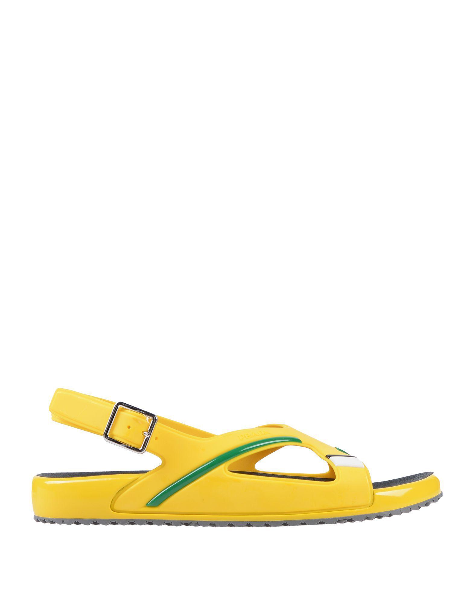 7de0d408f4ee Prada Sandals in Yellow for Men - Lyst
