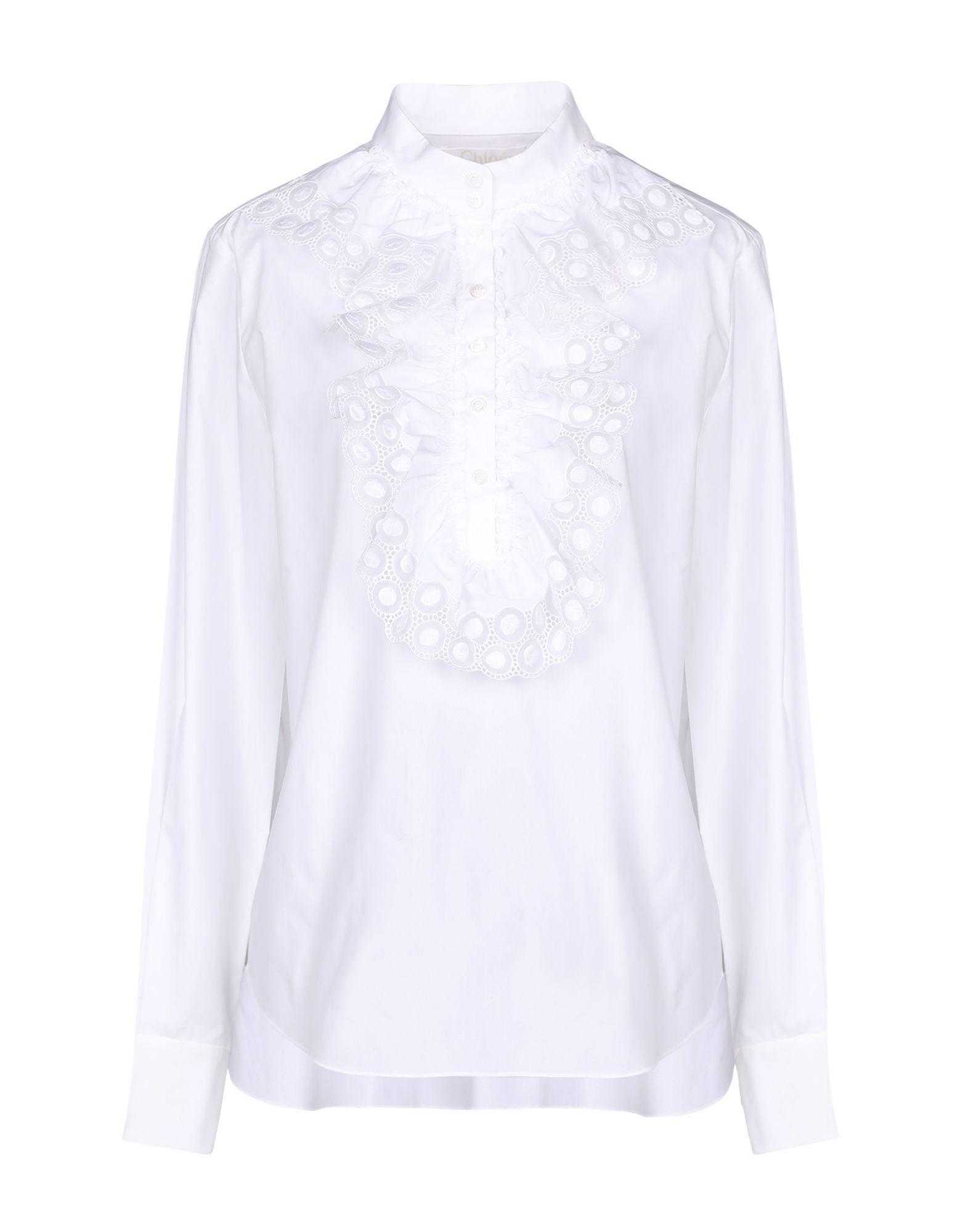 d7bc81b5b99c8 Chloé Shirt in White - Lyst