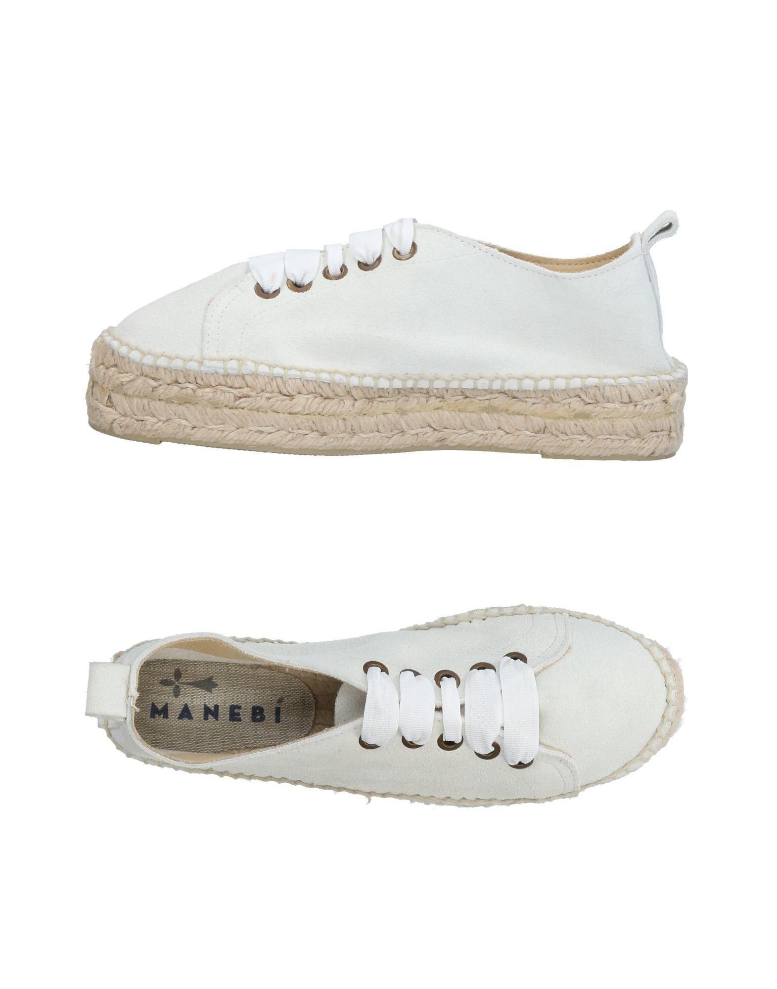 Blanc Sneakers amp; Tennis En Coloris Manebí Basses Lyst 0dpx40