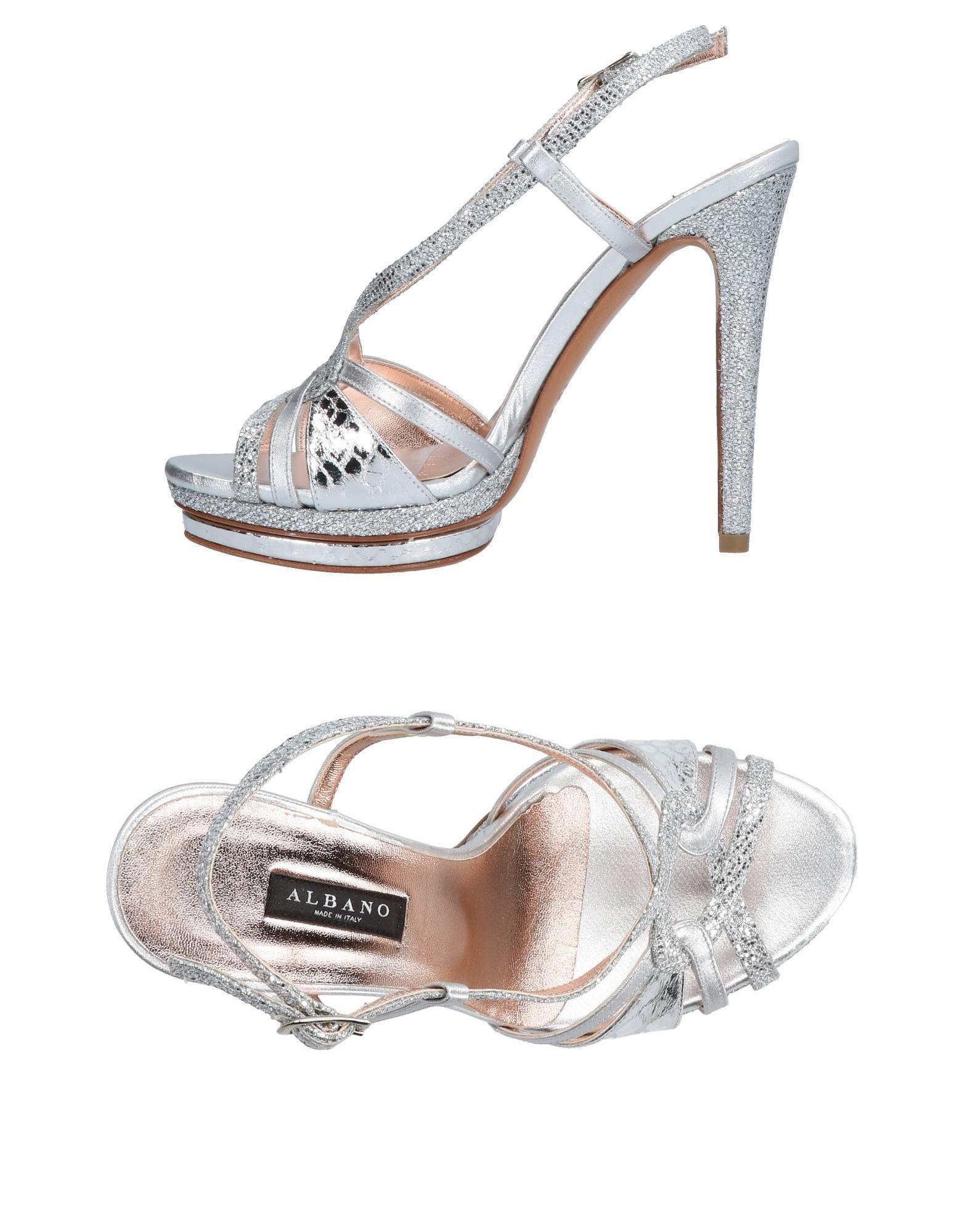 5b0f37ce4f69 Albano - Metallic Sandals - Lyst. View fullscreen