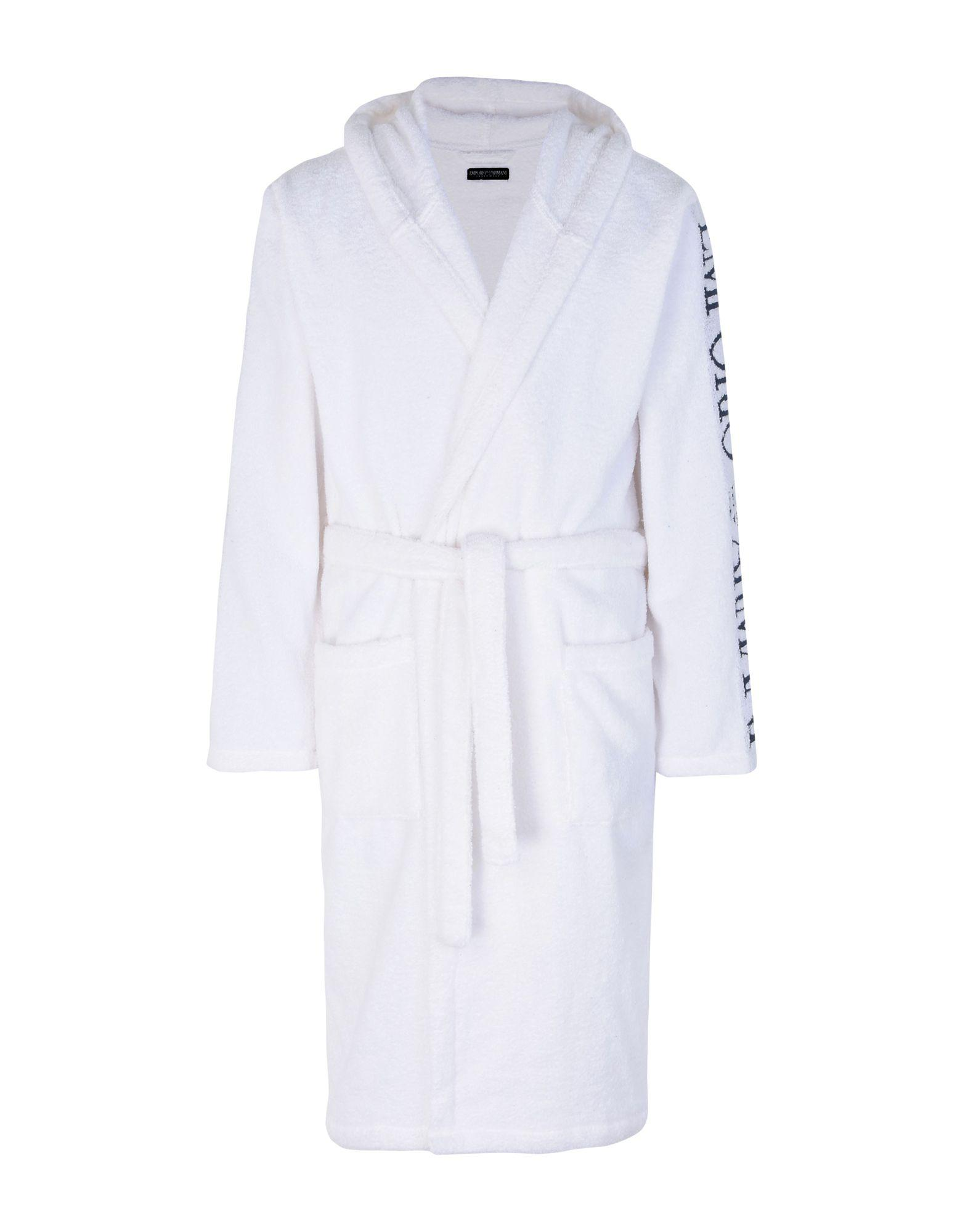 Emporio Armani Towelling Dressing Gown in White for Men - Lyst