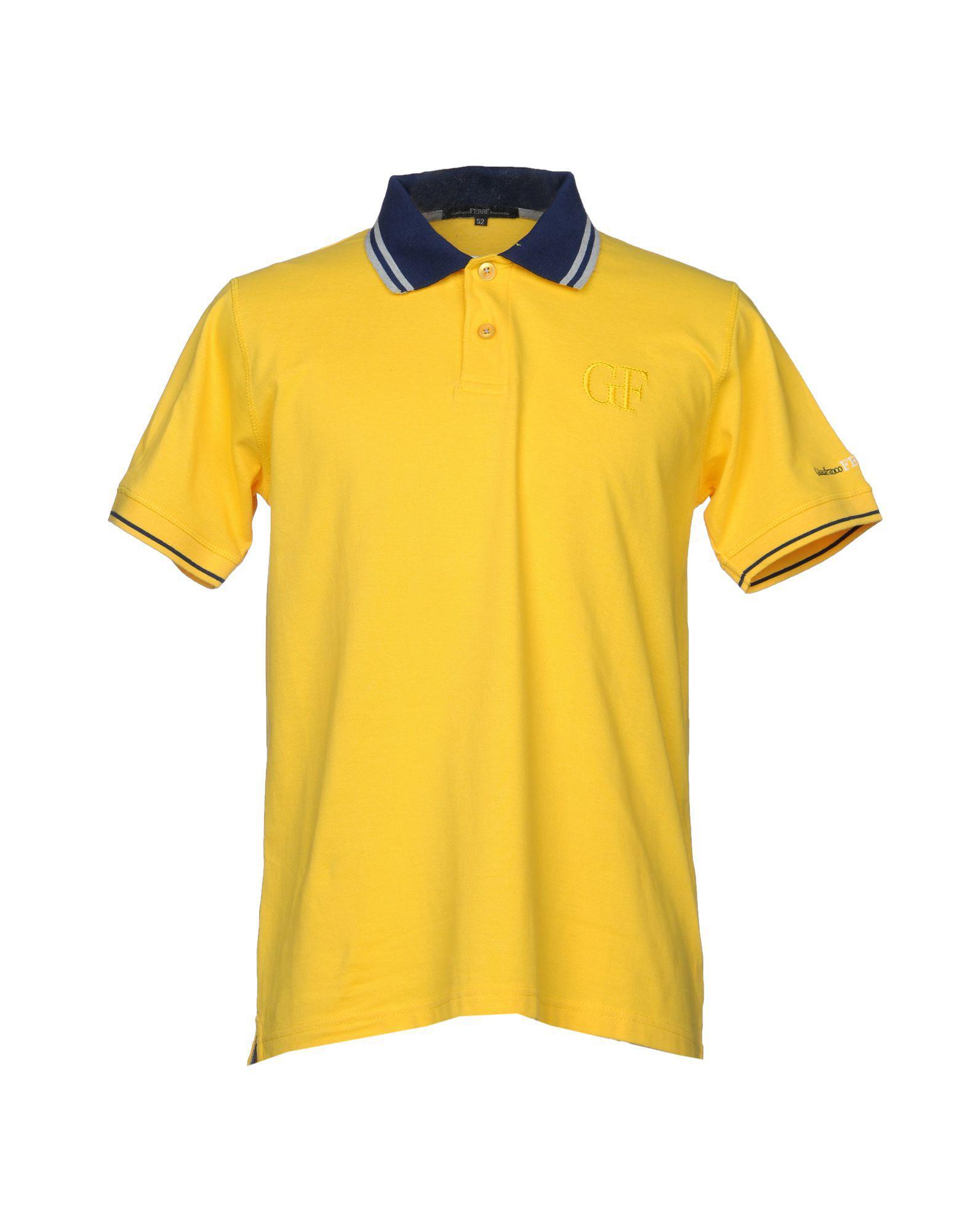 Polo Shirt for Men, Yellow, Cotton, 2017, M S Jeckerson