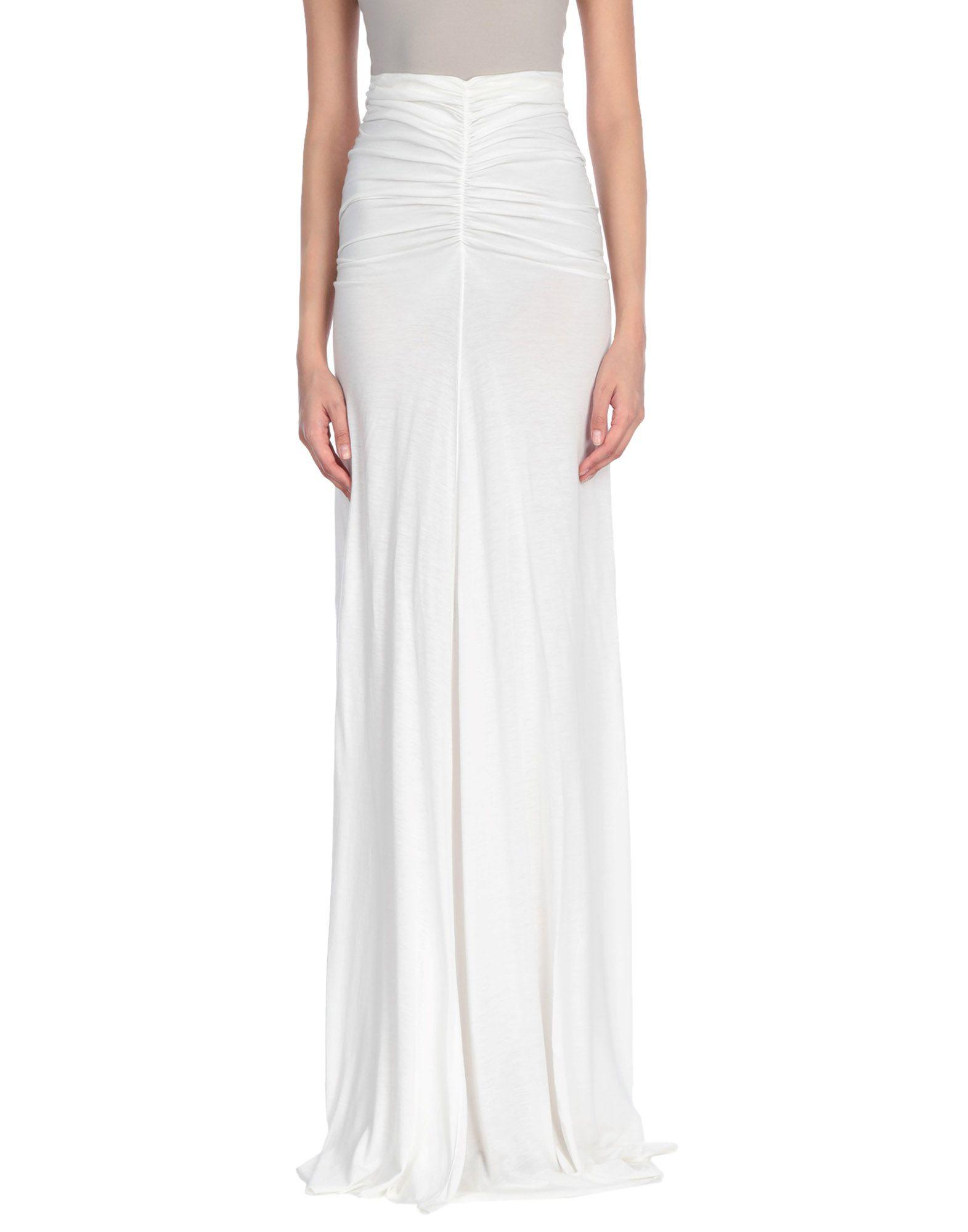 6209c428739 Lyst - Rick Owens Lilies Long Skirt in White