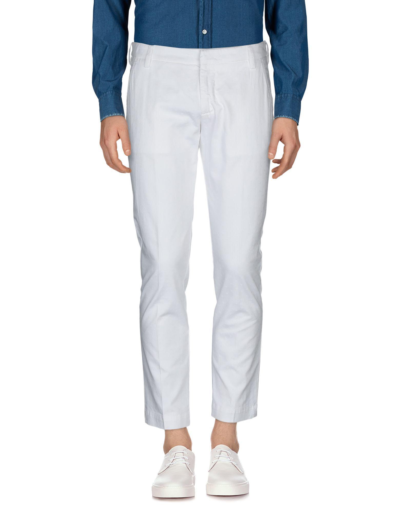 Lyst - Entre Amis Casual Trouser in White for Men fa2fb9adb28