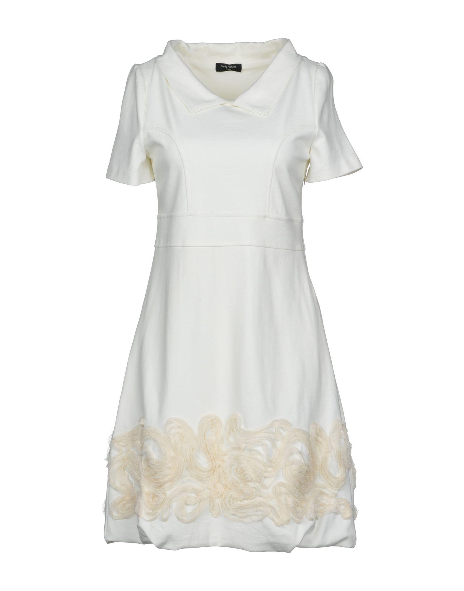 977196ab30 Lyst - Sonia Fortuna Short Dress in White