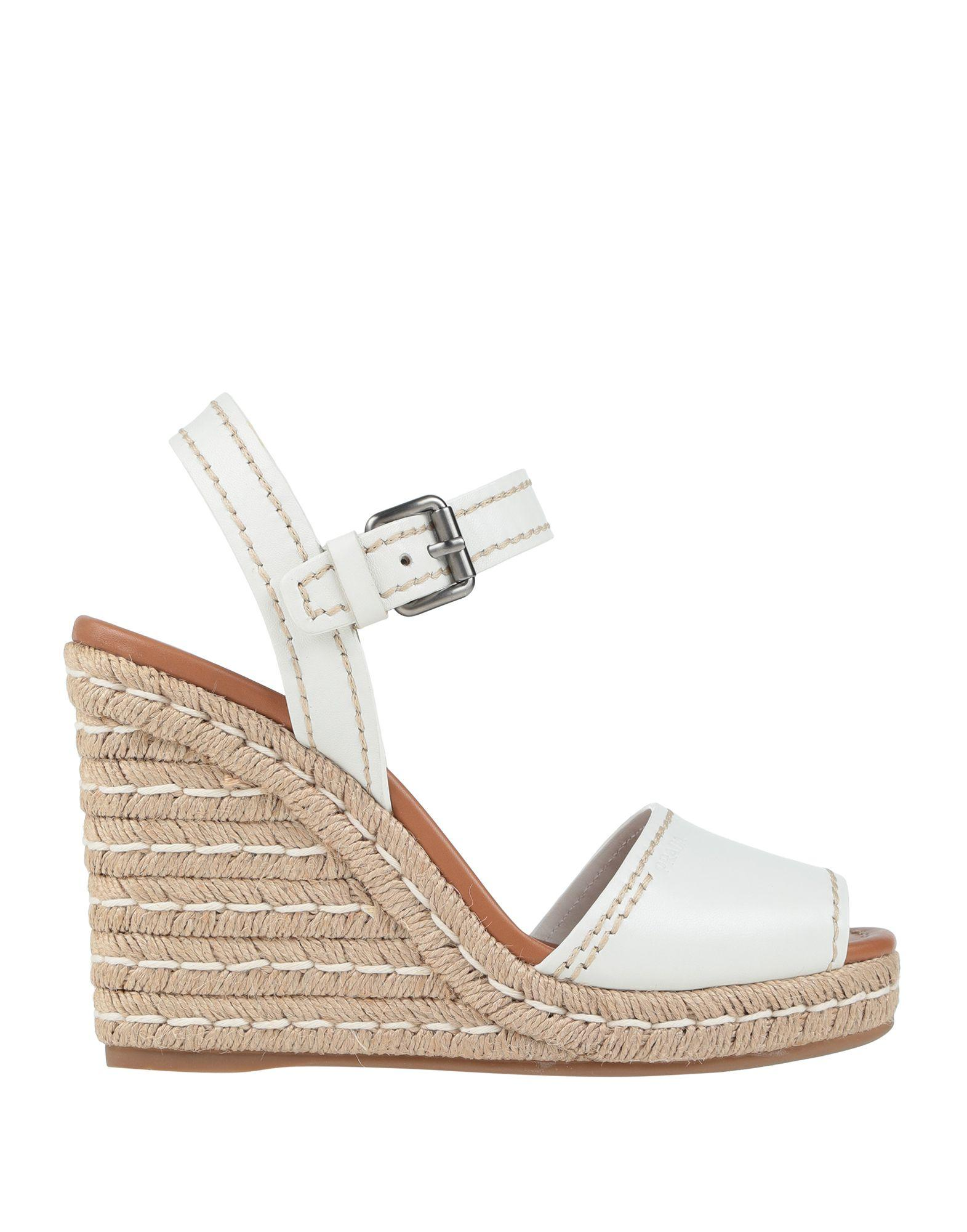 3cf2daad895f2 Prada Sandals in White - Lyst